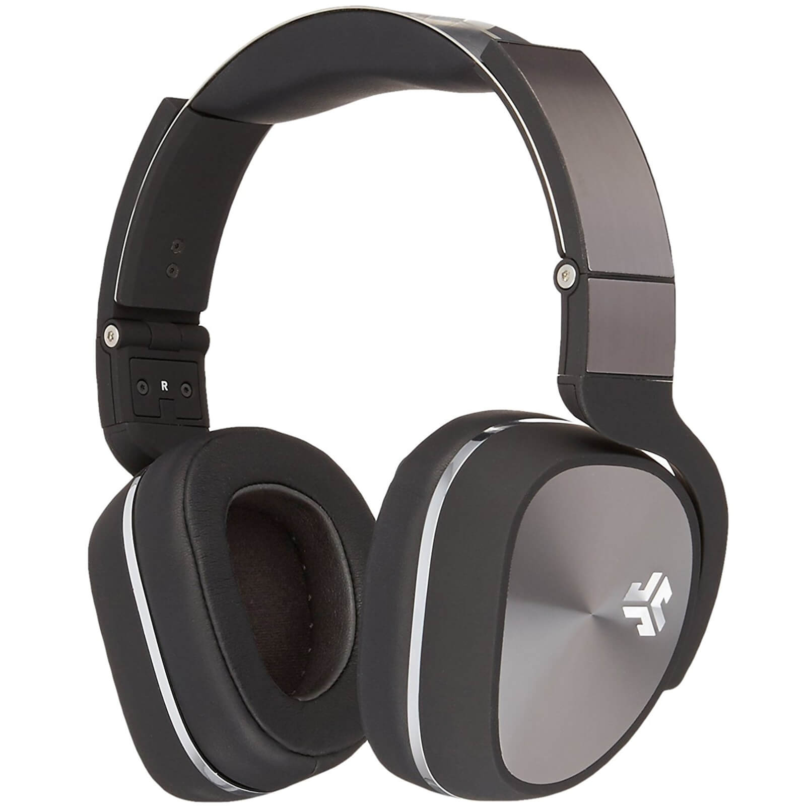 JLab Audio Flex Studio DJ Style Over Ear Headphones with Carry Case and Apple Mic - Black