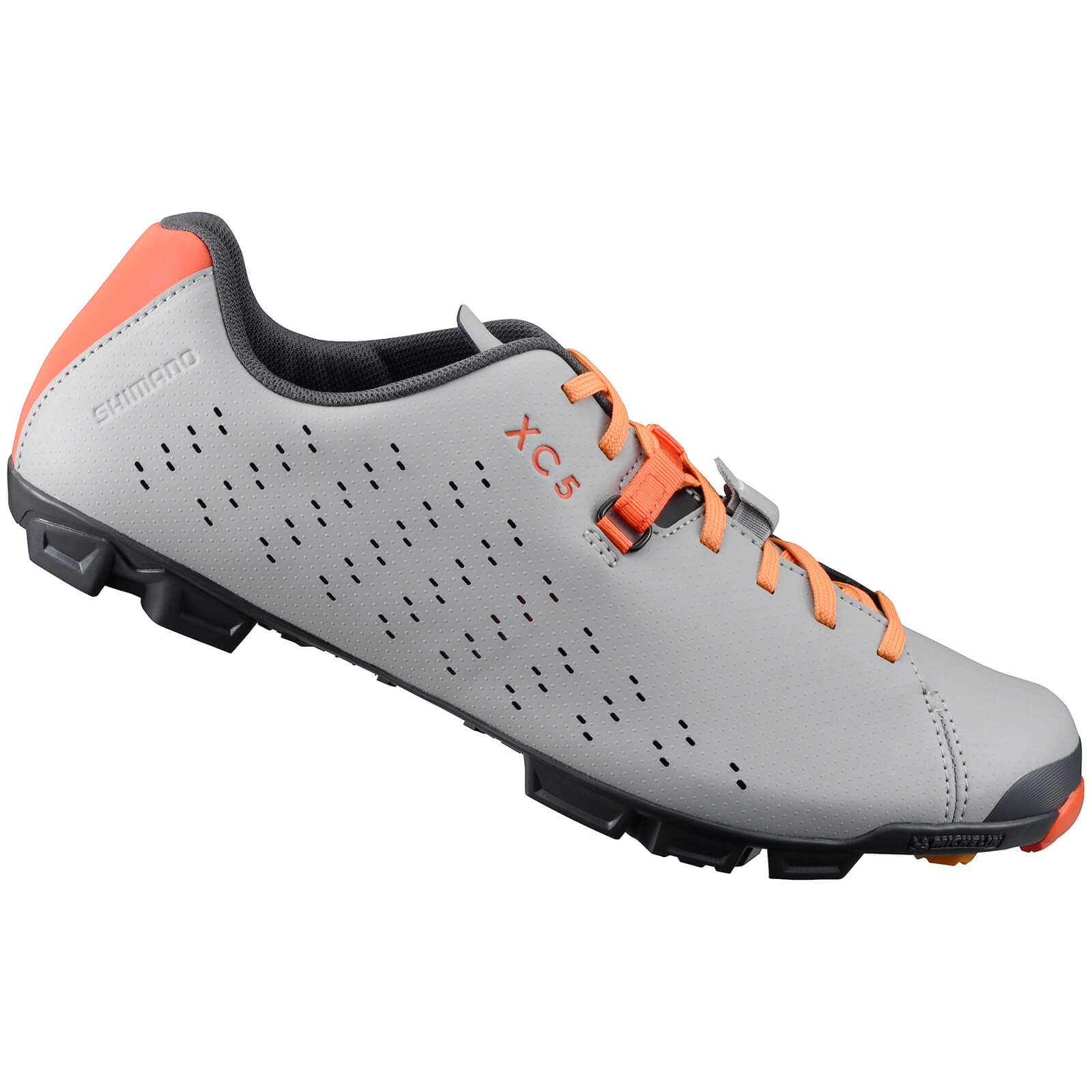 Shimano XC5 MTB Shoes - Grey/Orange - UK 9/EU 44