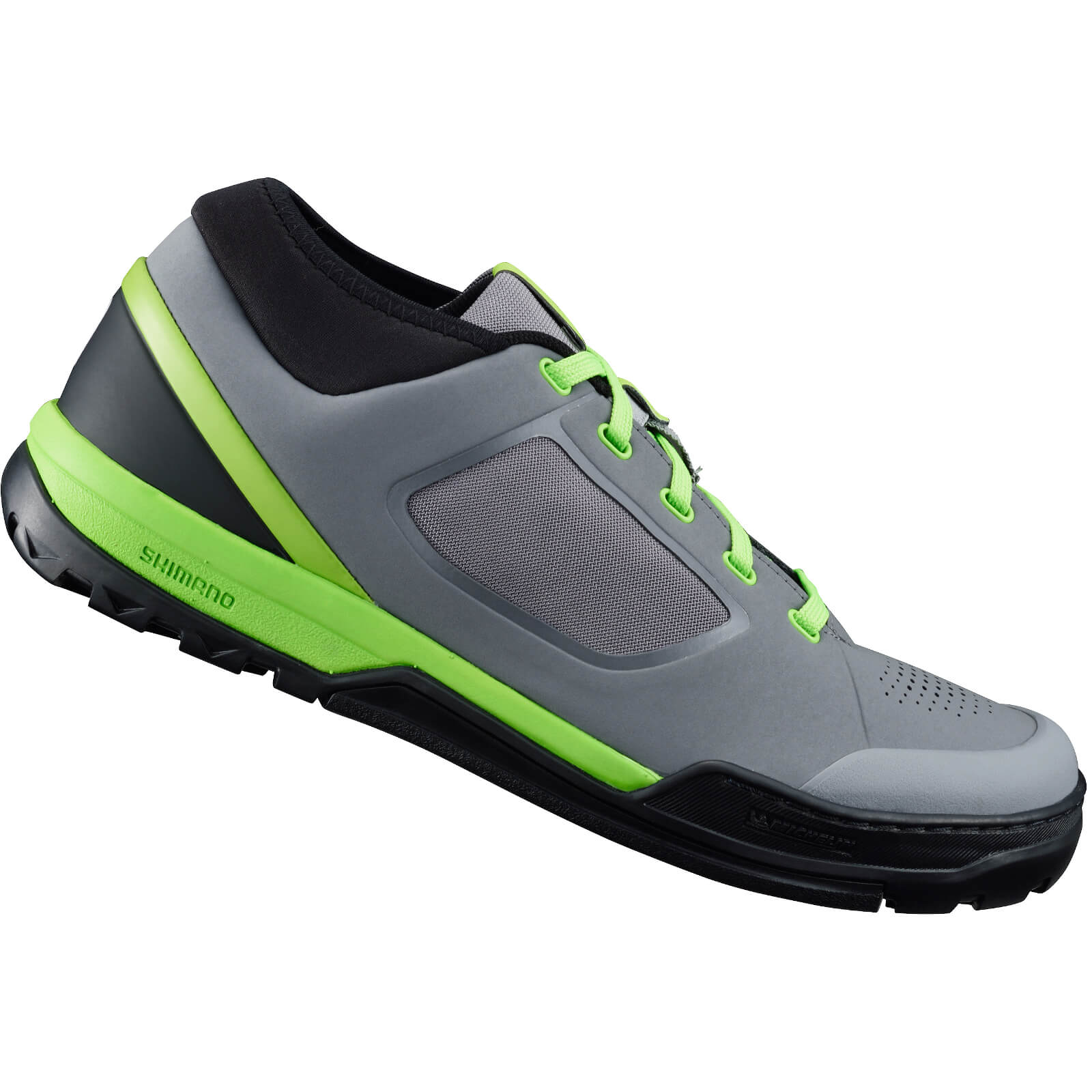 Shimano GR7 MTB Shoes - for Flat Pedals - Grey/Green