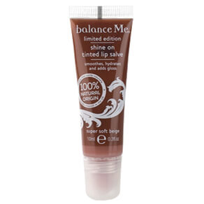 Balance Me Shine On Tinted Lip Salve - Super Soft Beige