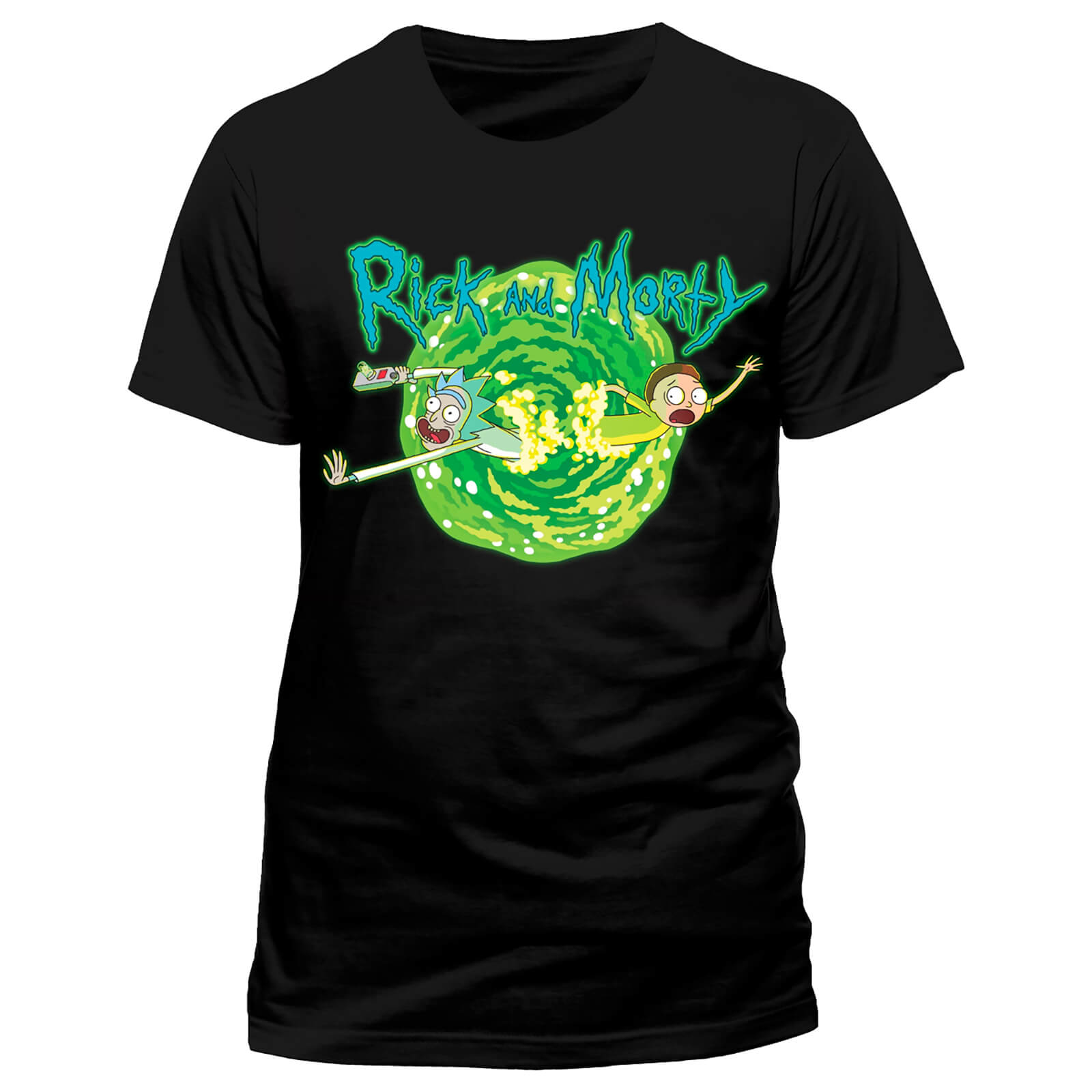 Rick And Morty Men S Black Portal T Shirt Black My