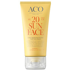 ACO Light Touch Mattifying Sun Cream SPF 20