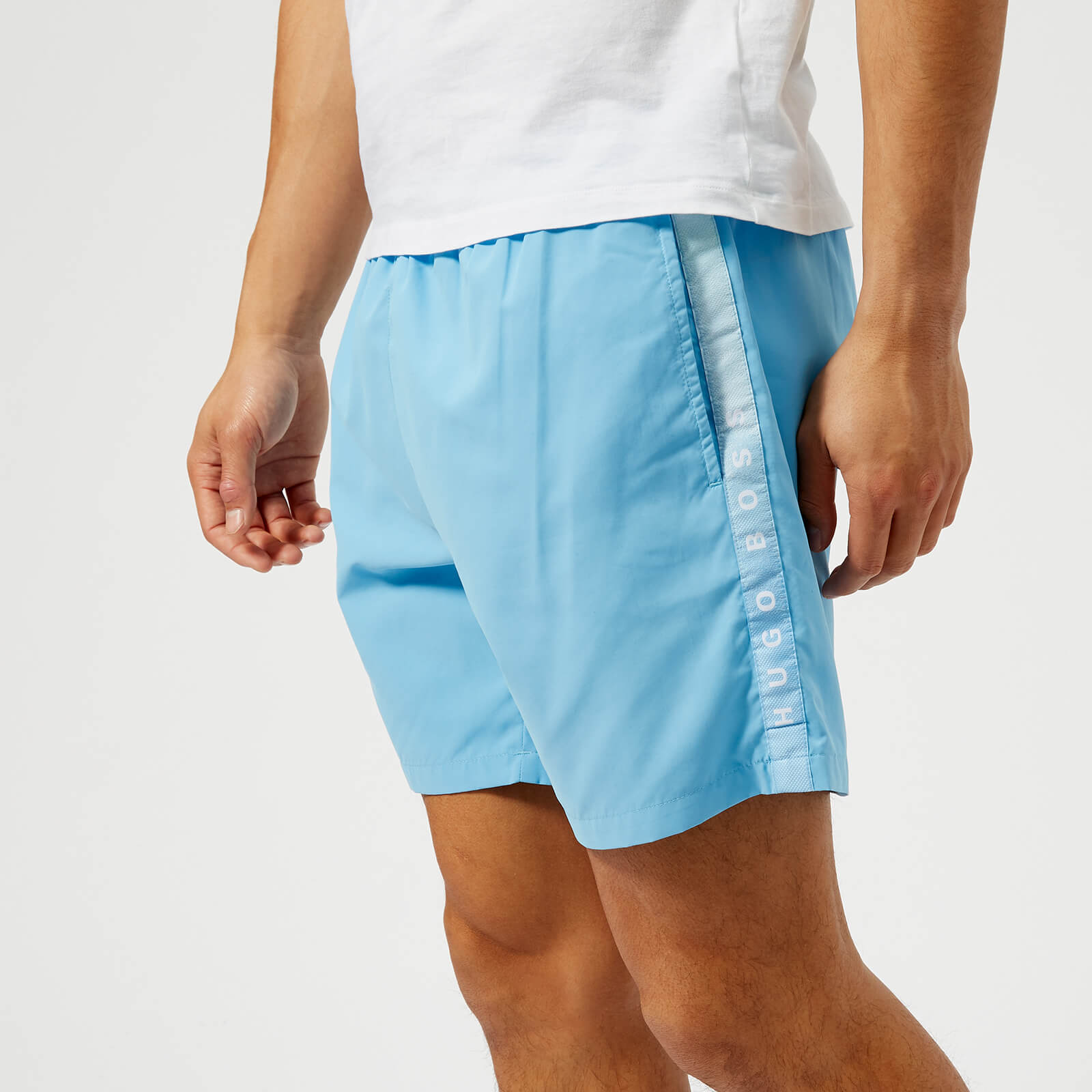 4e915f728 BOSS Hugo Boss Men's Seabream Swim Shorts - Pale Blue Mens Underwear |  TheHut.com