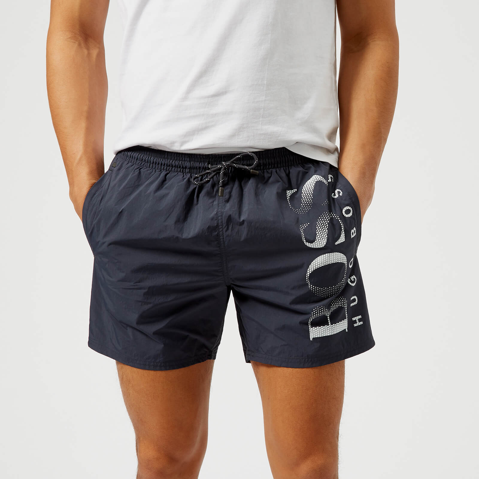 84fa29caef BOSS Hugo Boss Men's Octopus Swim Shorts - Navy Mens Underwear | TheHut.com