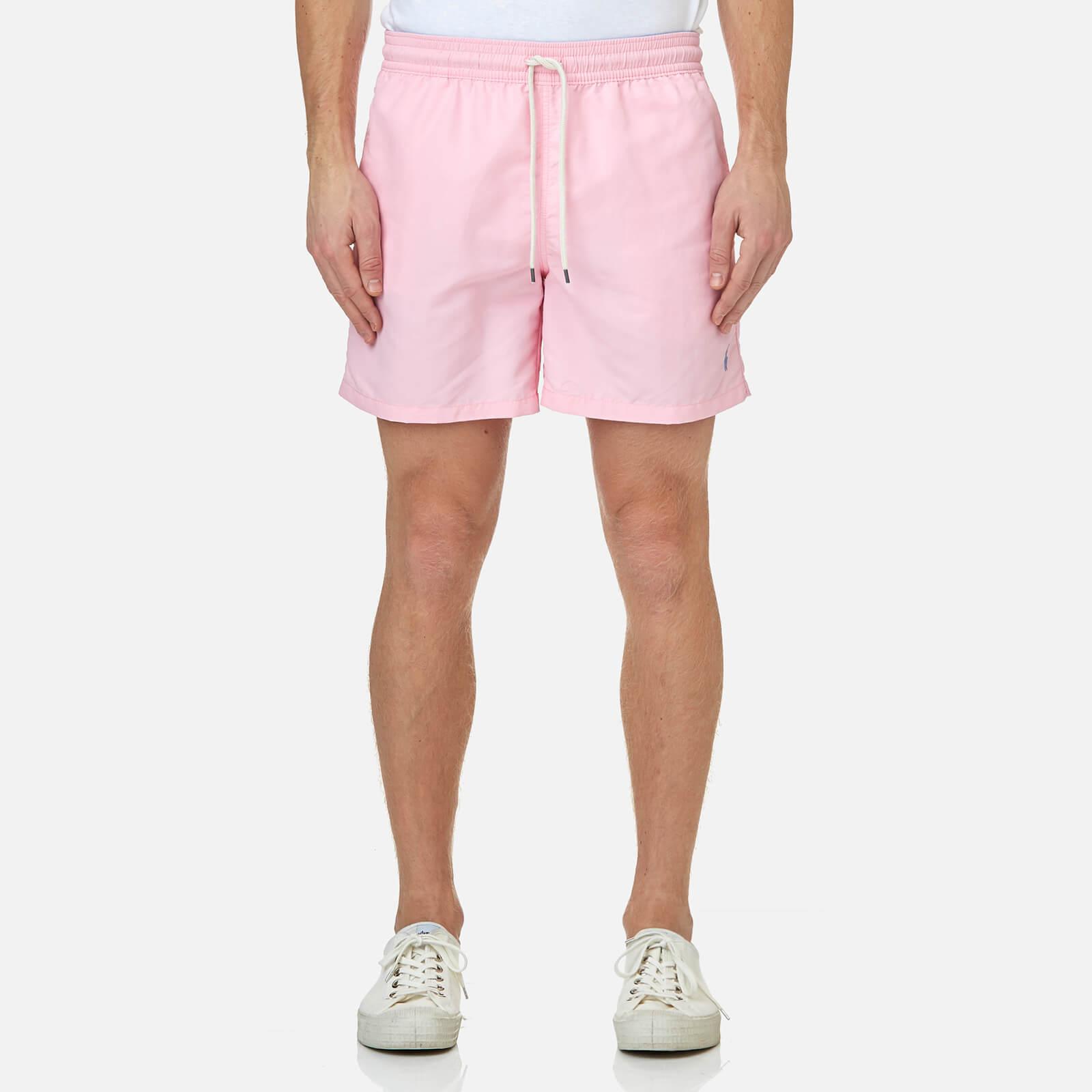 17242e1613 Polo Ralph Lauren Men's Traveler Swim Shorts - Carmel Pink - Free UK  Delivery over £50