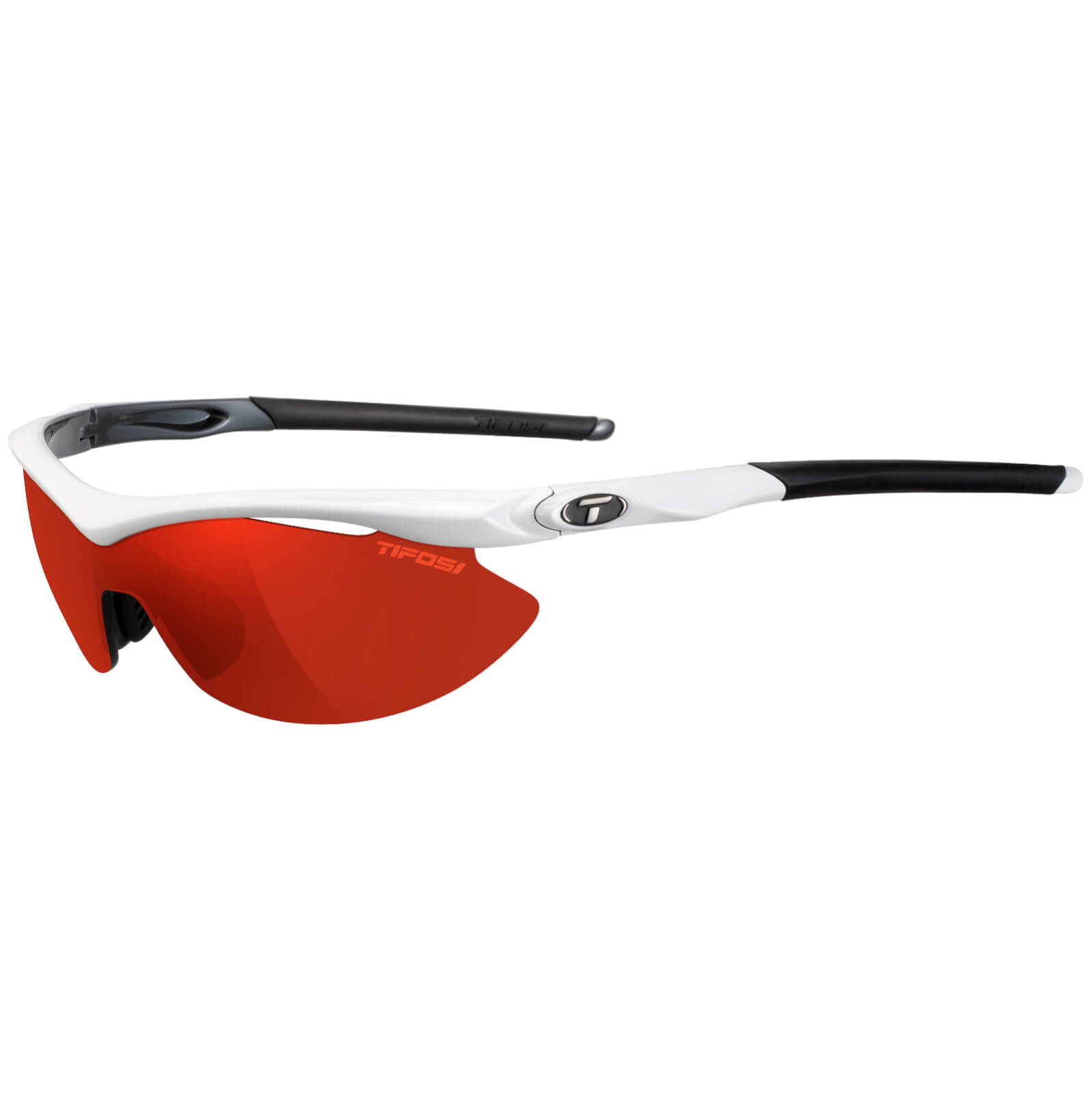 Tifosi Slip Interchangeable Sunglasses - White/Clarion Red