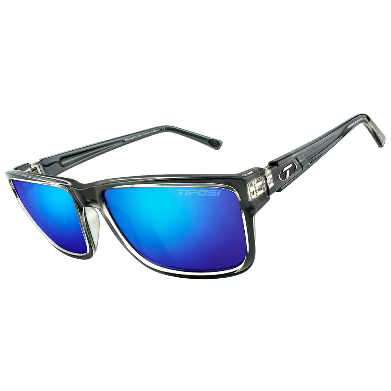 Tifosi Hagen XL Sunglasses - Crystal Smoke/Bright Blue
