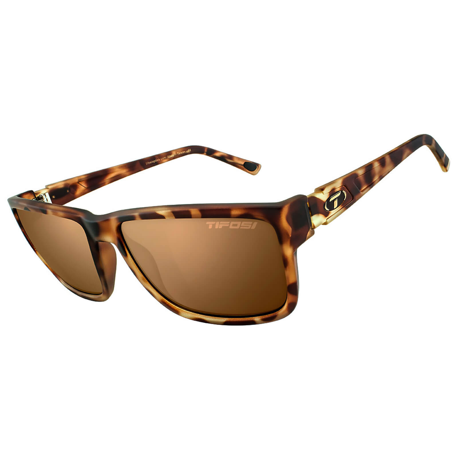 Tifosi Hagen XL Sunglasses - Matte Tortoise/Polarised Brown