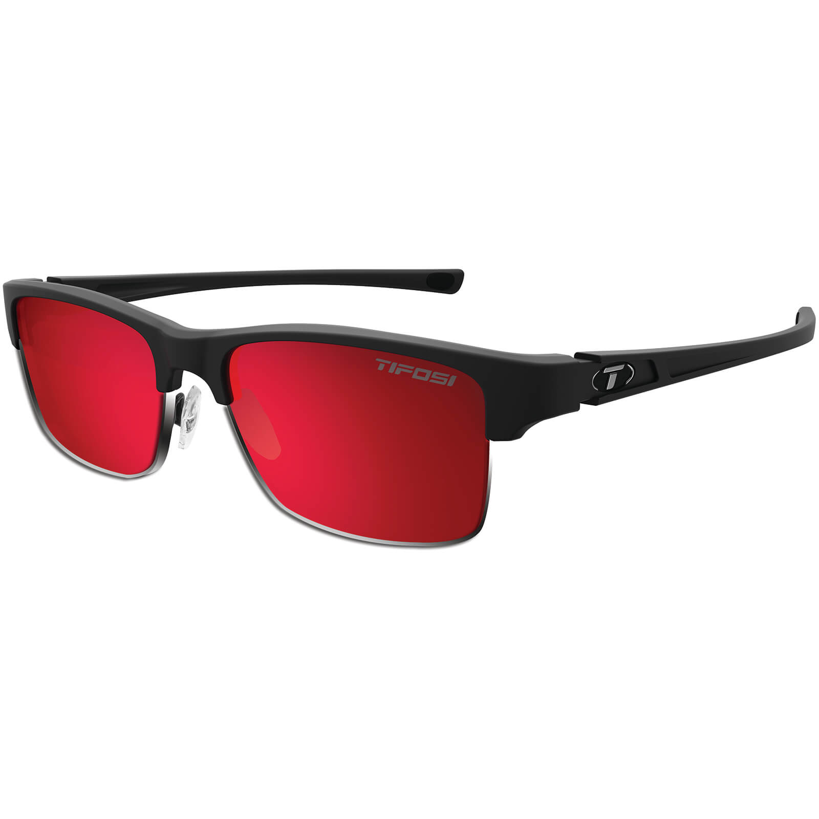 Tifosi Highwire Sunglasses - Matte Black/Smoke Red