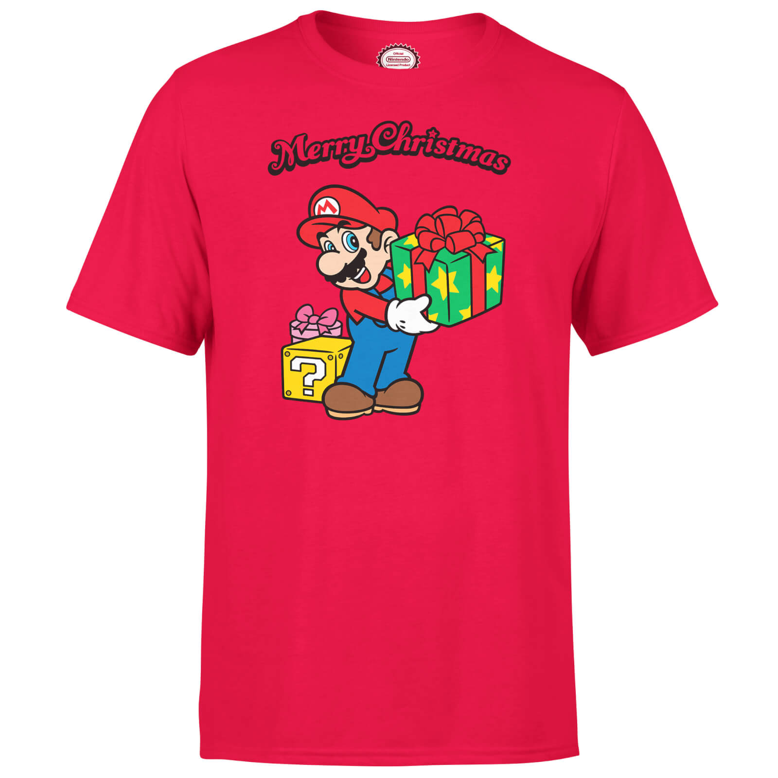 Nintendo Super Mario Mario Merry Christmas Red T-Shirt