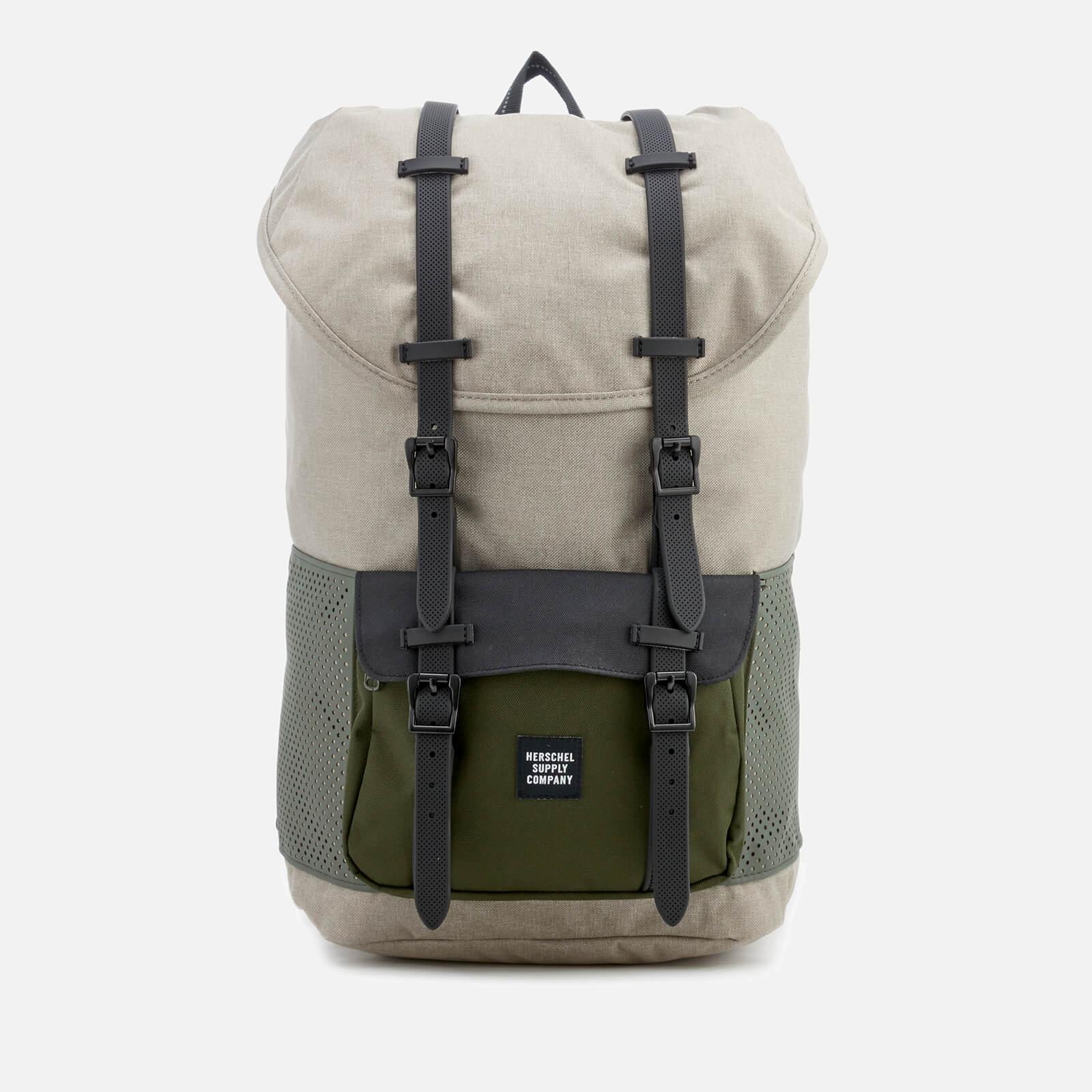 75f0cfbe334 Herschel Supply Co. Men s Little America Backpack - Light Khaki  Crosshatch Forest Night Mens Accessories
