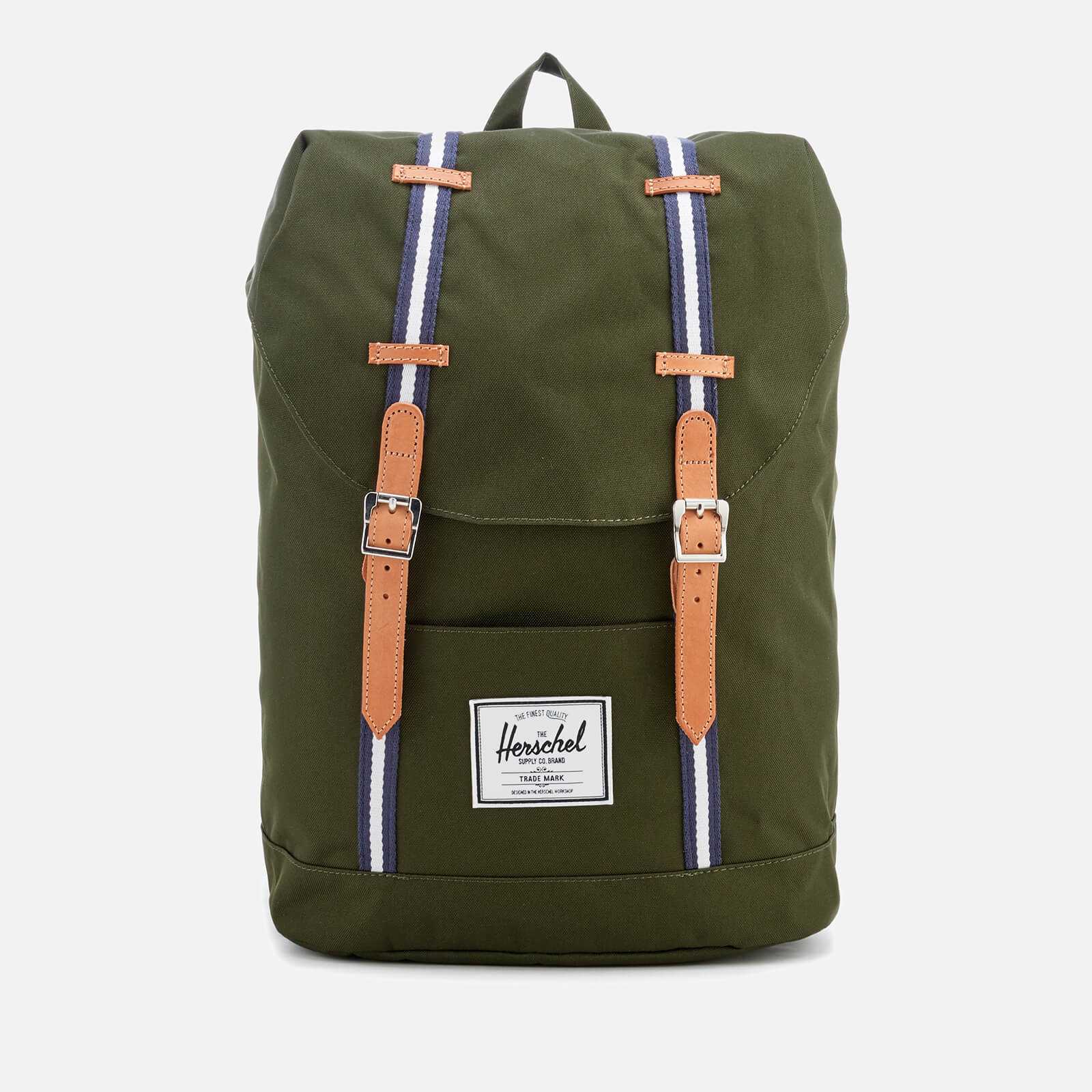 37f311cb98 ... Herschel Supply Co. Men s Retreat Backpack - Forest Green Veggie Tan  Leather
