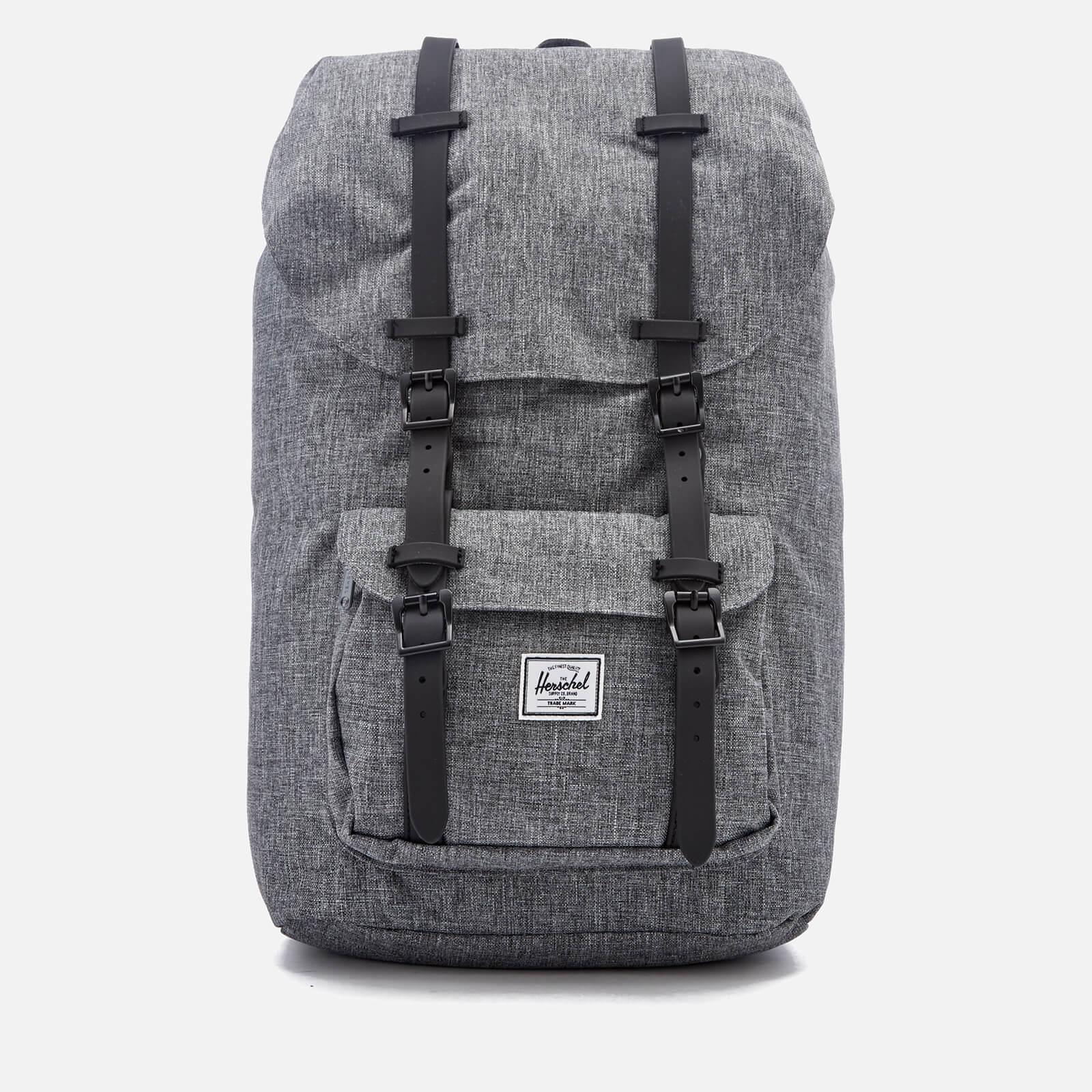 24df187591 Men s Little America Backpack - Raven Crosshatch Black Rubber - Free UK  Delivery over £50