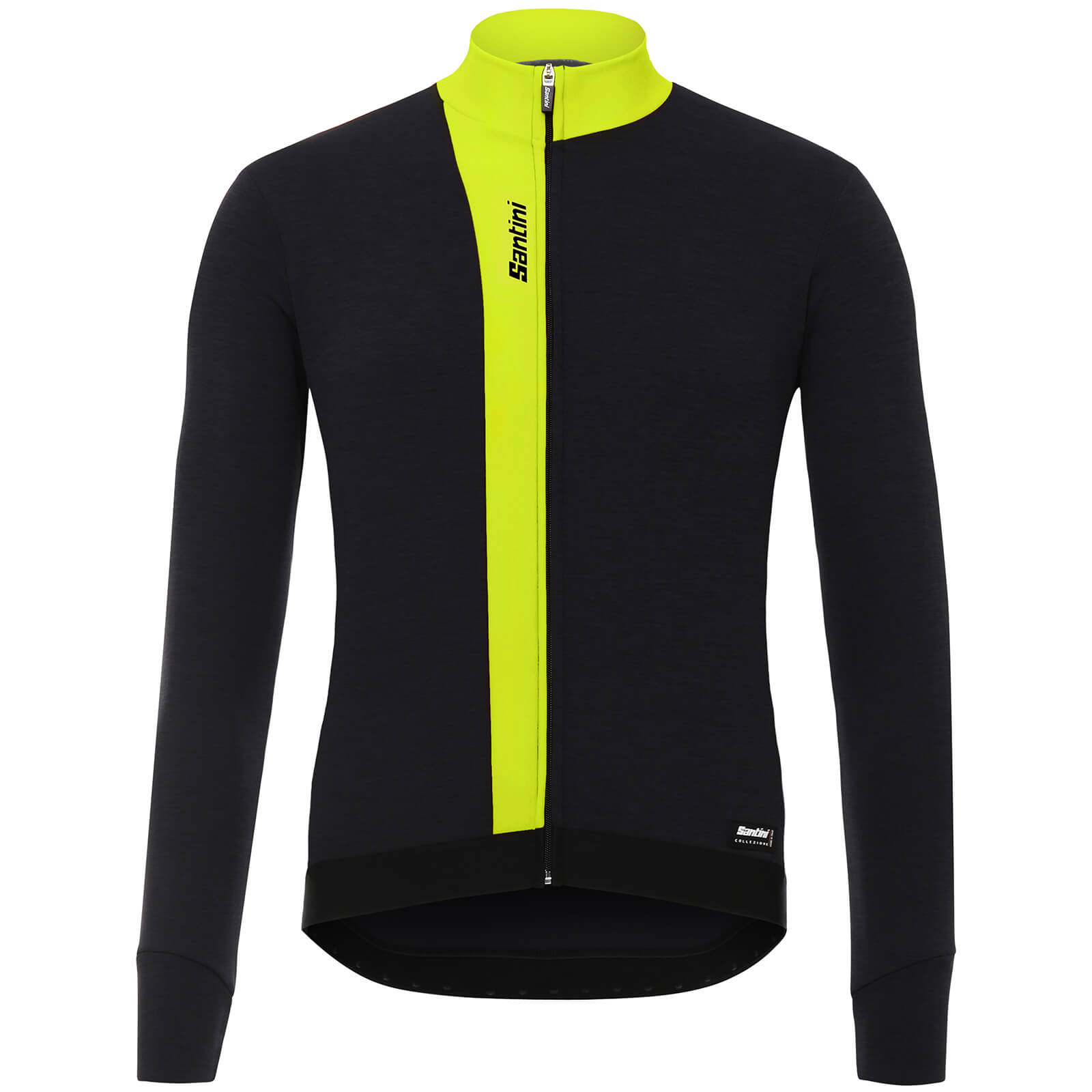 Santini Origine Winter Long Sleeve Jersey - Yellow