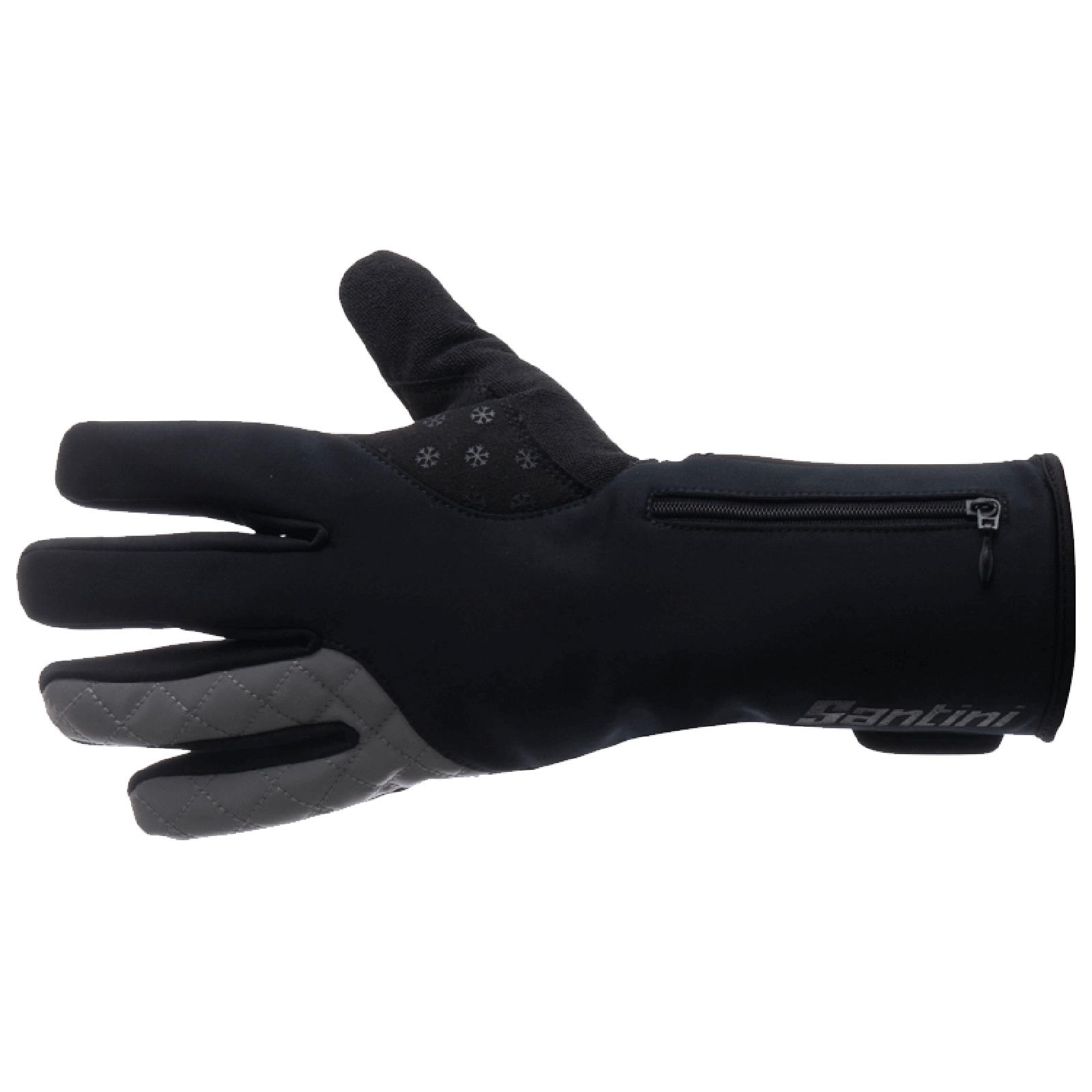 Santini Fjord Extreme Winter Gloves - Black | Handsker