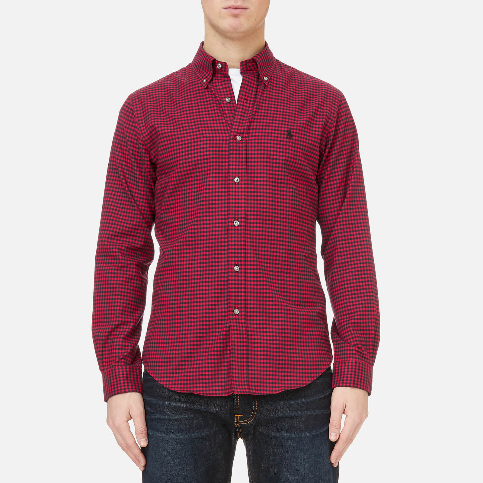 0bfcf3222283 Polo Ralph Lauren Men s Slim Fit Twill Shirt - Red Black Check - Free UK  Delivery over £50