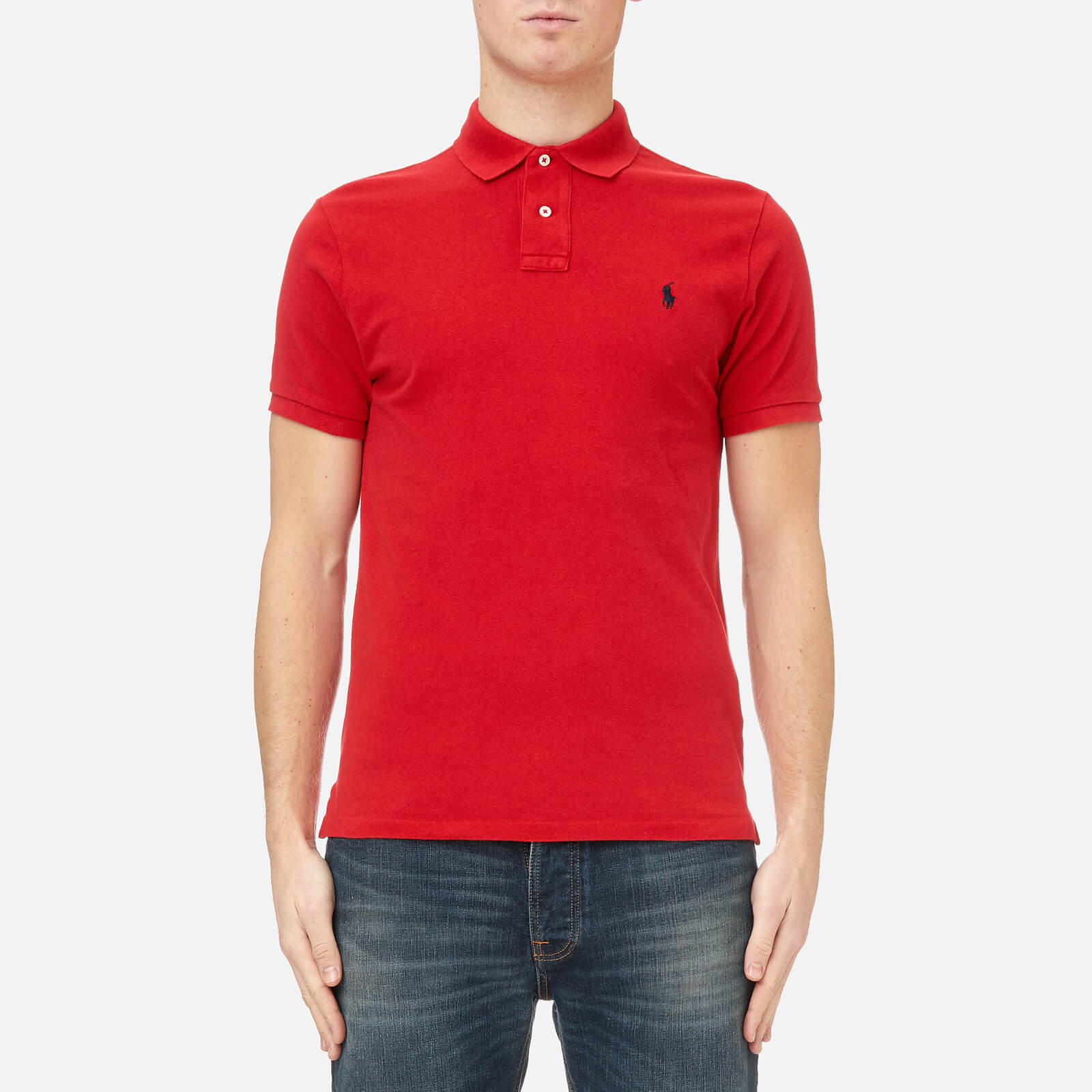 f0c44d32 Polo Ralph Lauren Men's Custom Fit Polo Shirt - Red - Free UK Delivery over  £50
