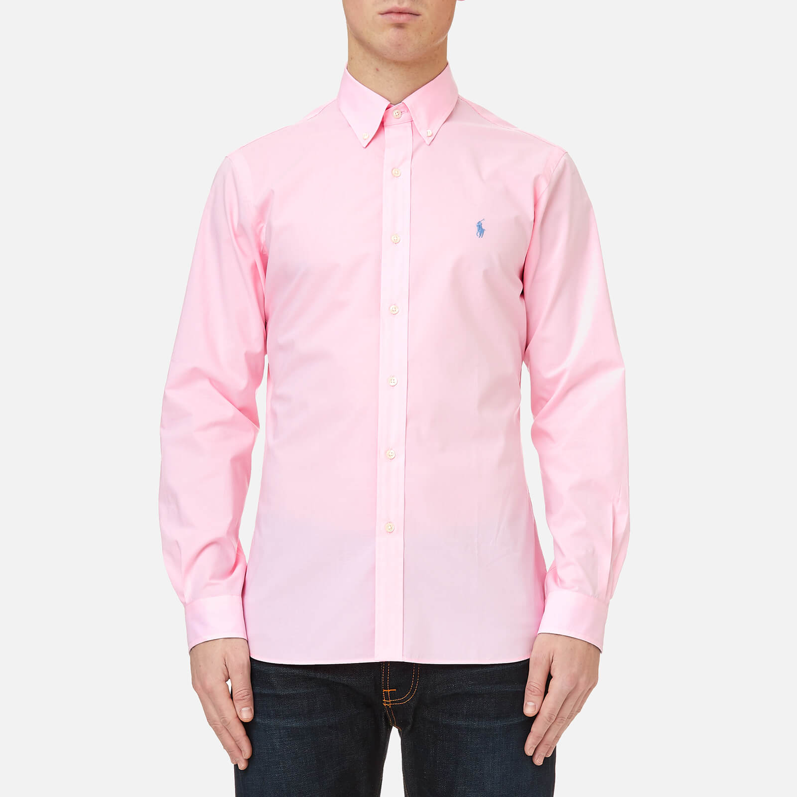 c0a66d24e Polo Ralph Lauren Men's Slim Fit Poplin Shirt - Carmel Pink - Free UK  Delivery over £50