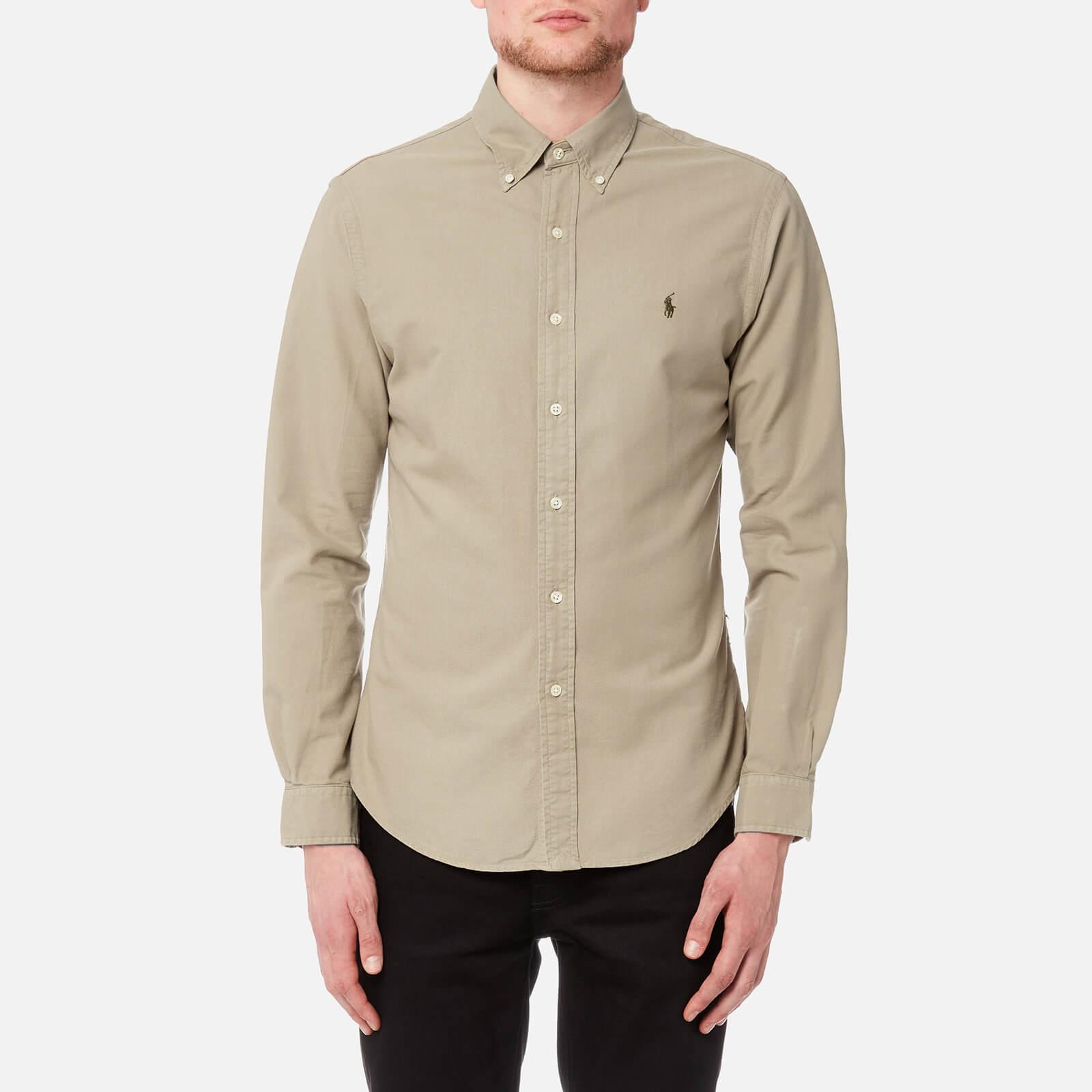 c157d612d12 Polo Ralph Lauren Men s Slim Fit Garment Dye Shirt - Tan - Free UK Delivery  over £50