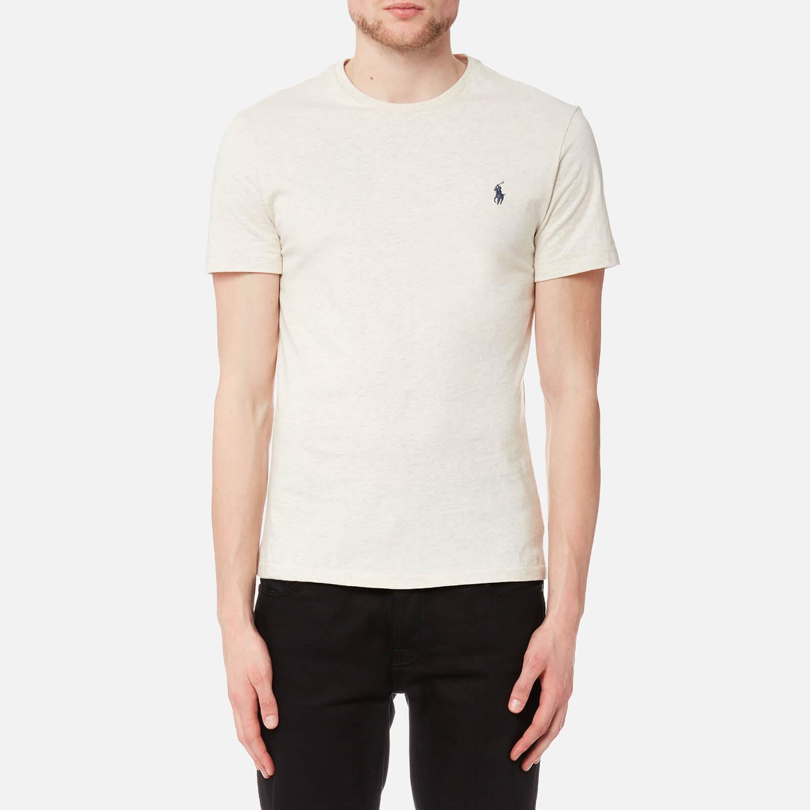 cbcca586 Polo Ralph Lauren Men's Short Sleeve Crew Neck T-Shirt - New Sand Heather -  Free UK Delivery over £50