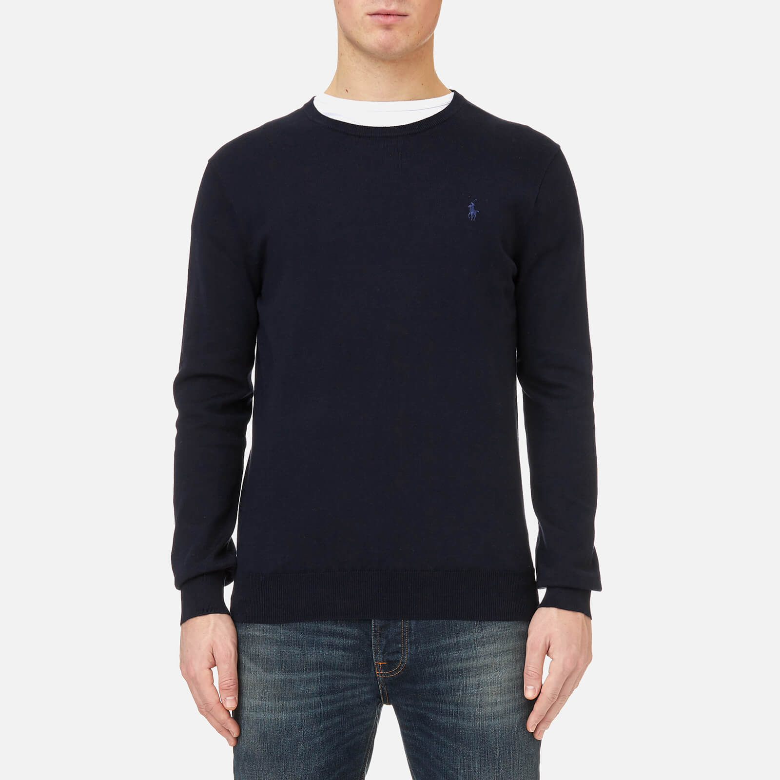 86d762d074f9f Polo Ralph Lauren Men s Pima Cotton Knitted Jumper - Navy - Free UK  Delivery over £50