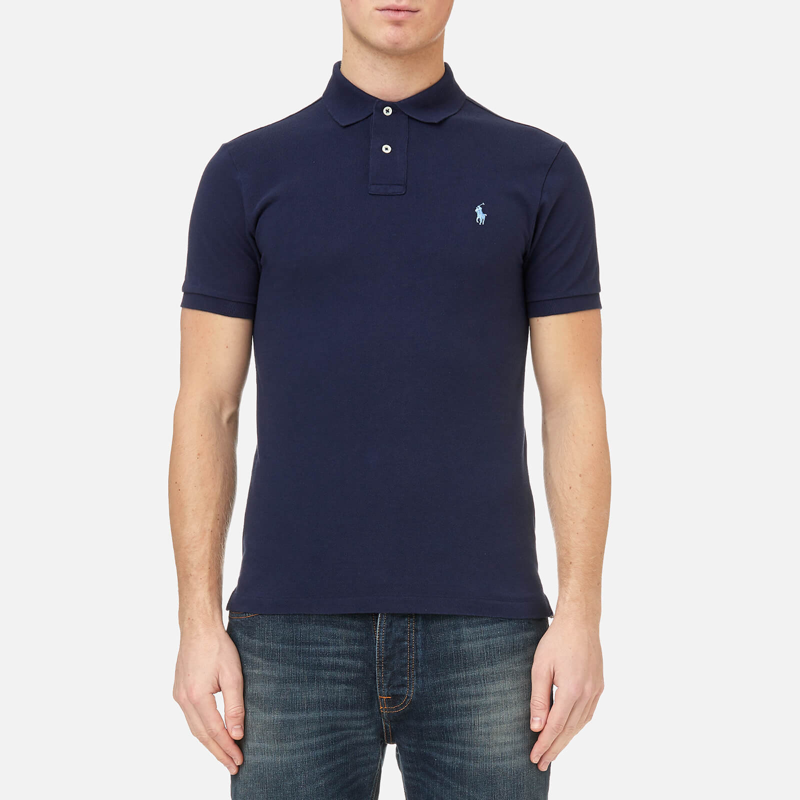 a2ae1c0fc8 Polo Ralph Lauren Men's Slim Fit Polo Shirt - Newport Navy - Free UK  Delivery over £50
