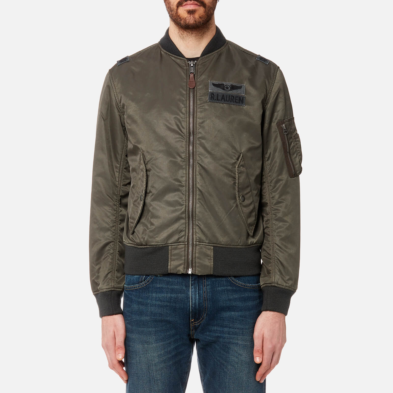 a897f23477 Polo Ralph Lauren Men s Nylon Bomber Jacket - Olive - Free UK Delivery over  £50