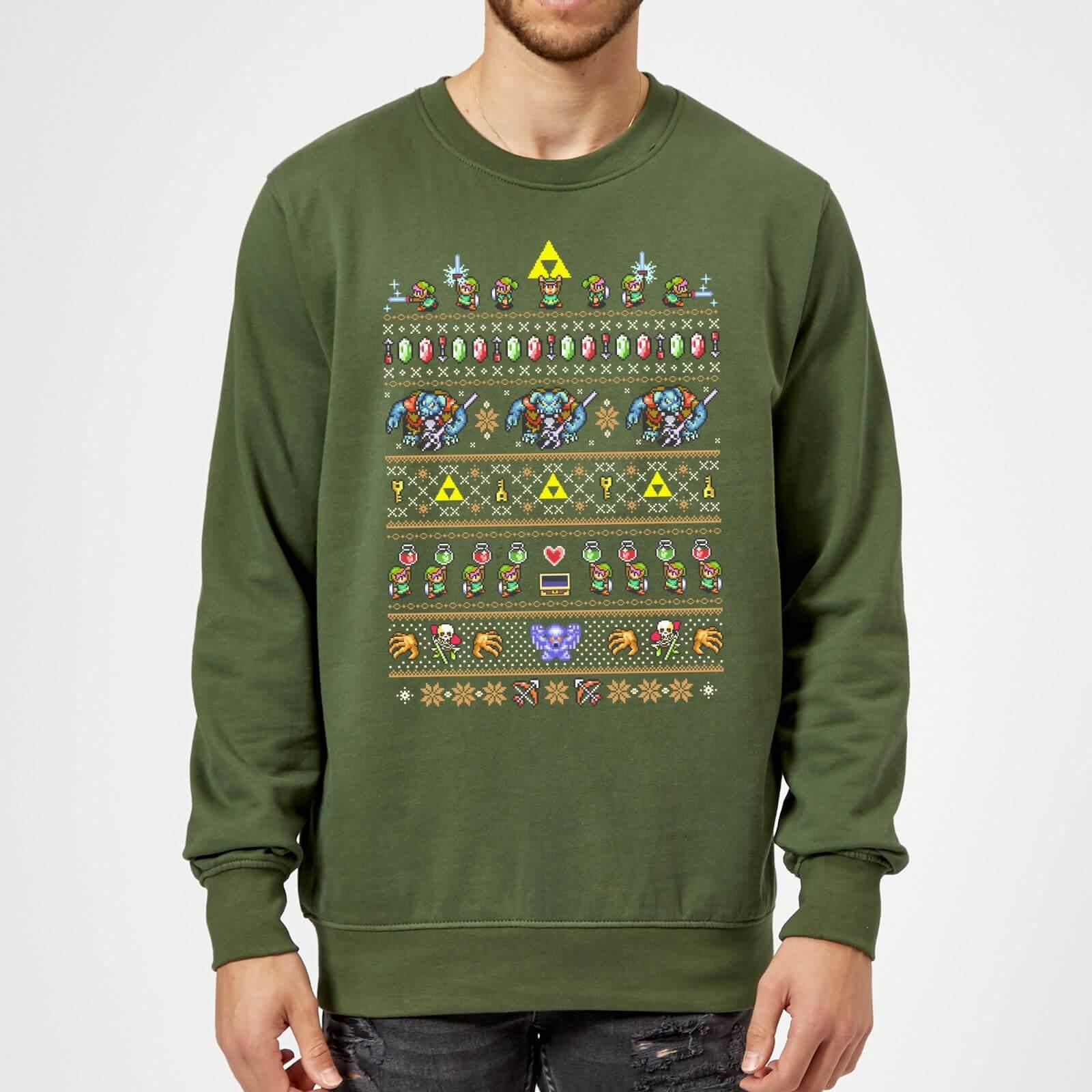 Leuke Kersttrui.Nintendo The Legend Of Zelda Kersttrui Donkergroen Zavvi Nl