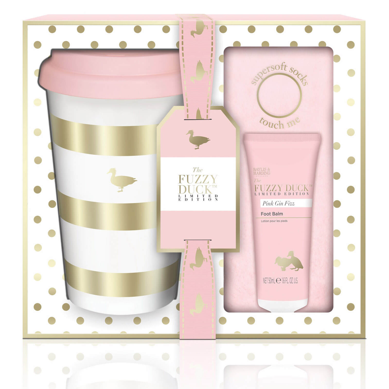 Baylis & Harding Fuzzy Duck Pink Gin Fizz Cup Set