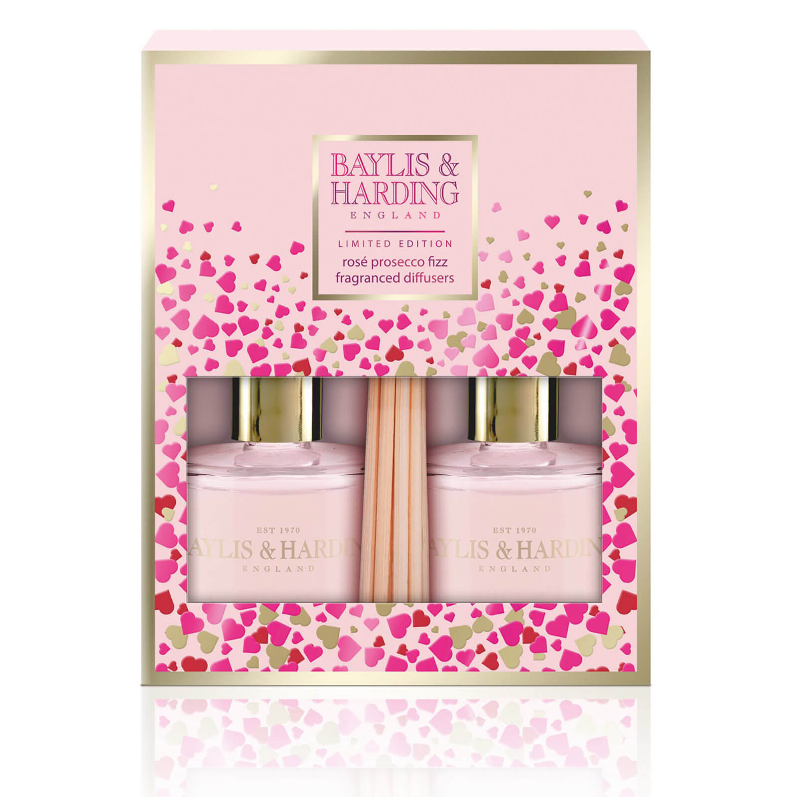 Baylis & Harding Rose Prosecco Duo Diffuser Set