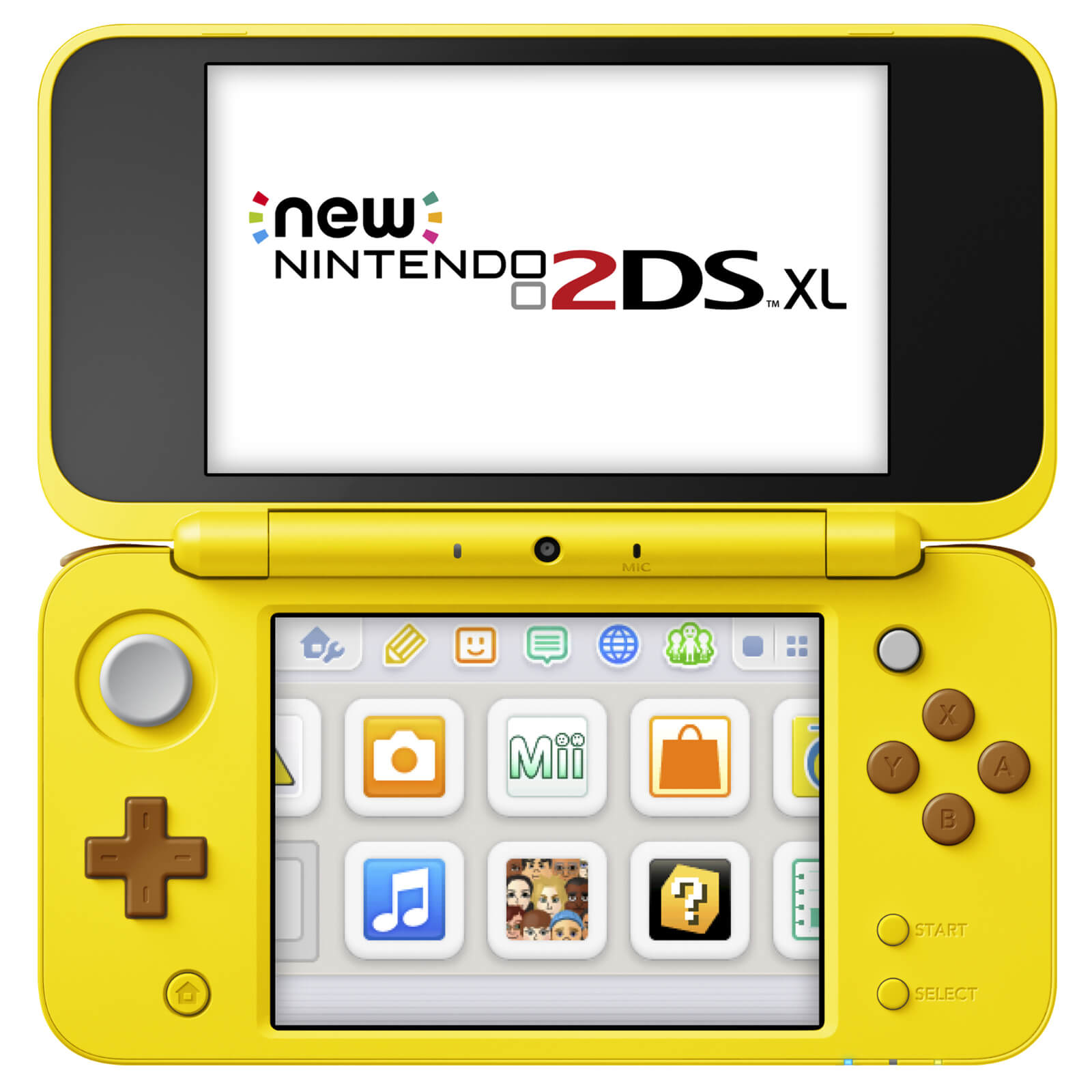 New Nintendo 2DS XL Pikachu Edition Front