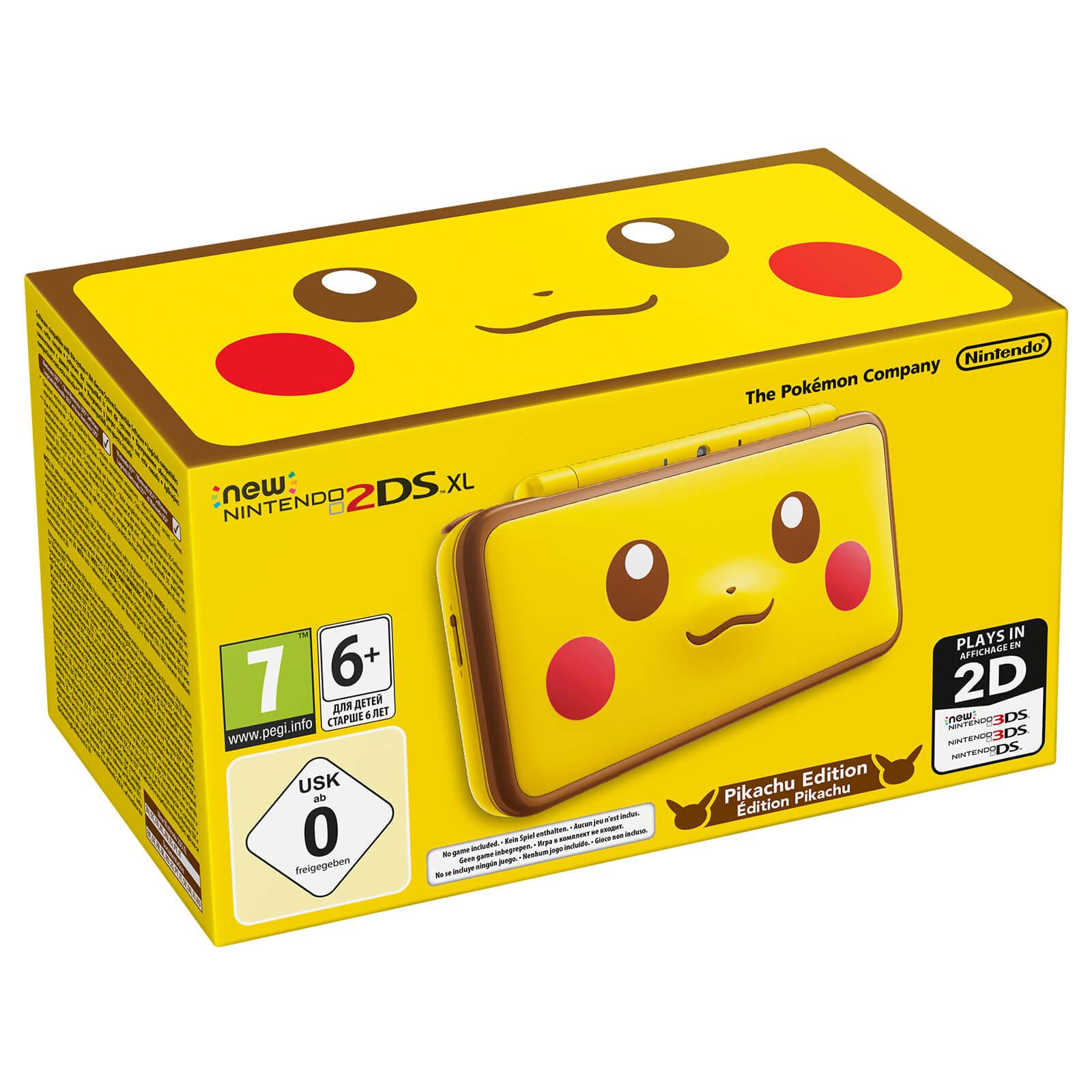 New Nintendo 2ds Xl Pikachu Edition Games Zavvi