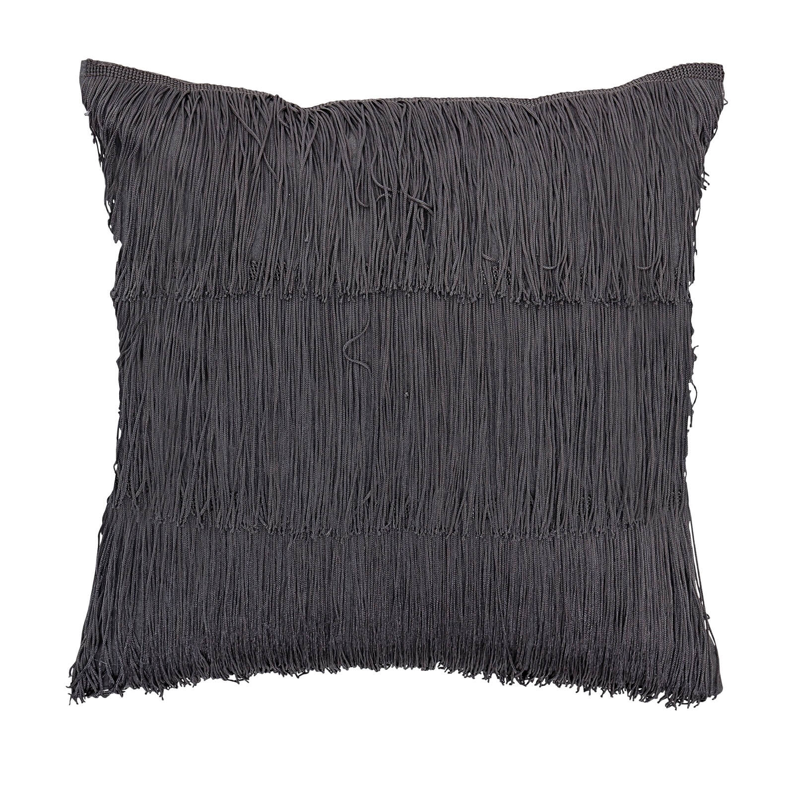 Bloomingville Fringe Detail Cushion - Grey