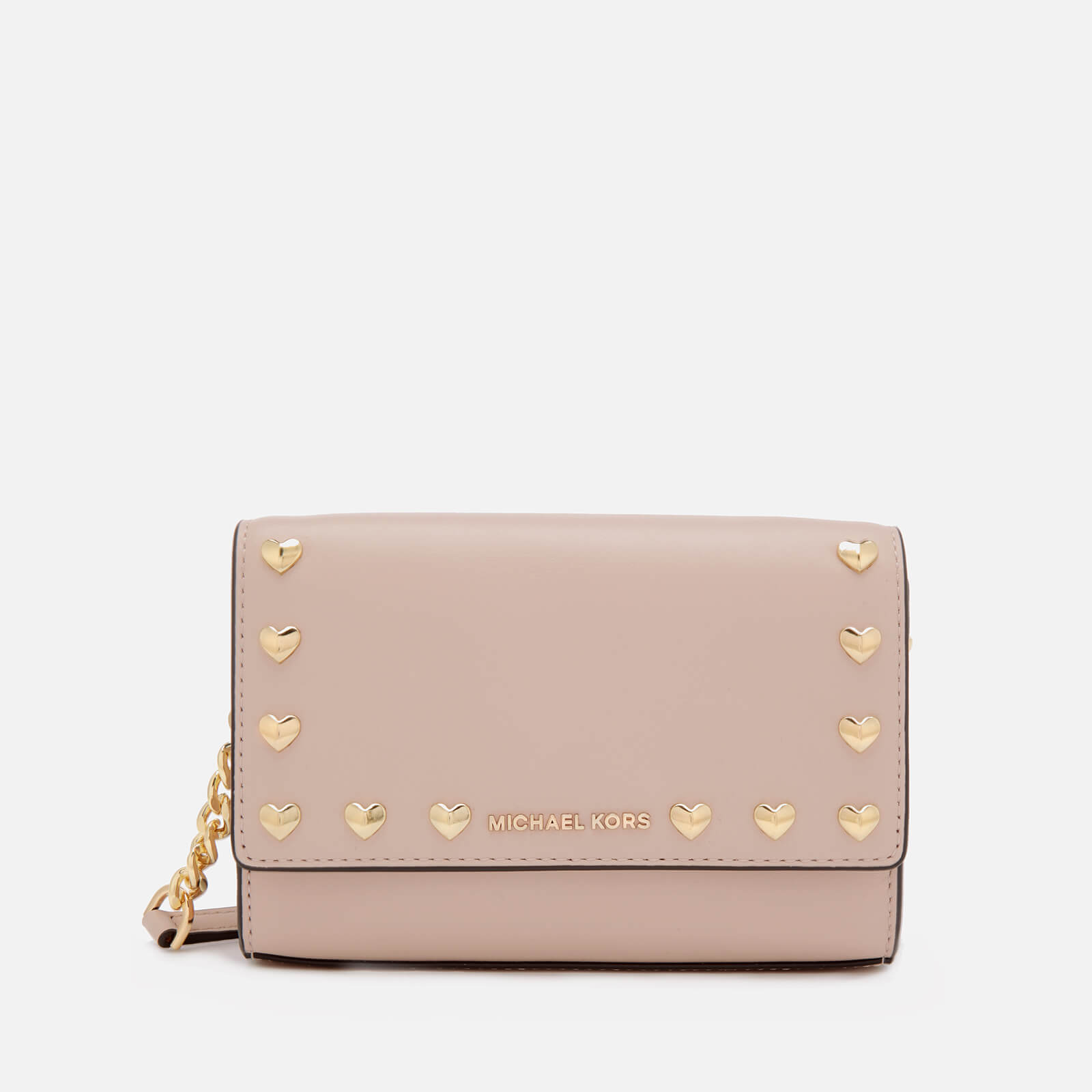 53b4c10aaa95 MICHAEL MICHAEL KORS Women s Ruby Medium Clutch Bag - Soft Pink - Free UK  Delivery over £50