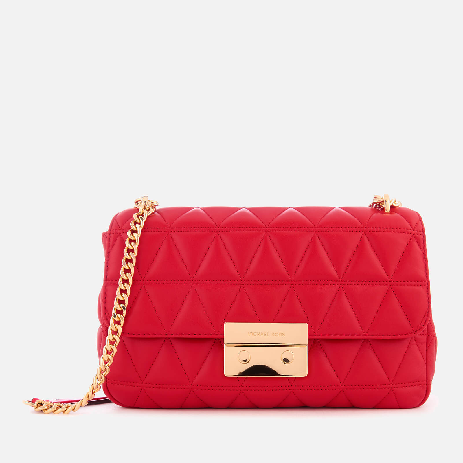 30b2e46a841 MICHAEL MICHAEL KORS Women s Sloan Large Chain Shoulder Bag - Bright Red -  Free UK Delivery over £50