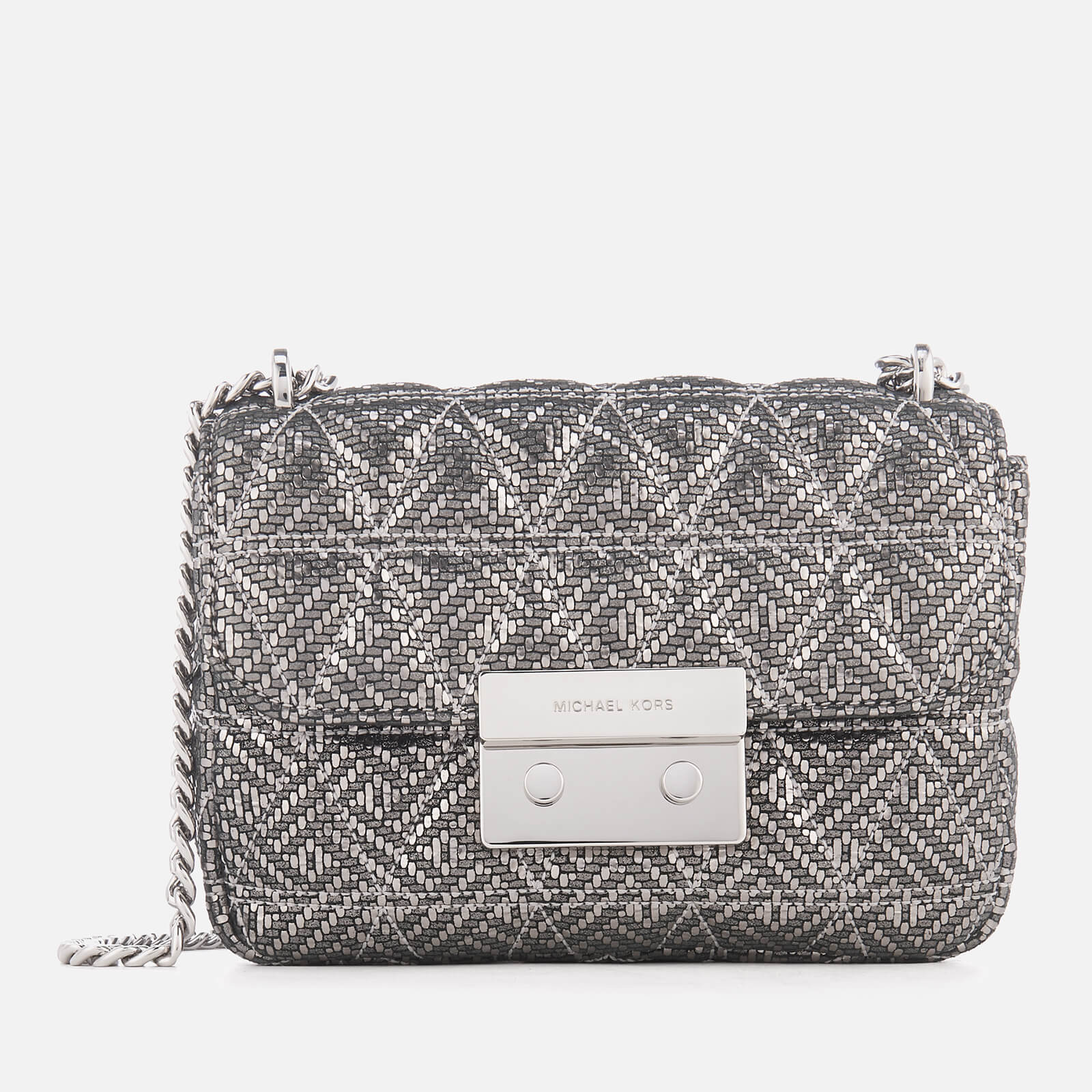 5811ca7e1f07 MICHAEL MICHAEL KORS Women's Sloan Small Chain Shoulder Bag - Silver - Free  UK Delivery over £50