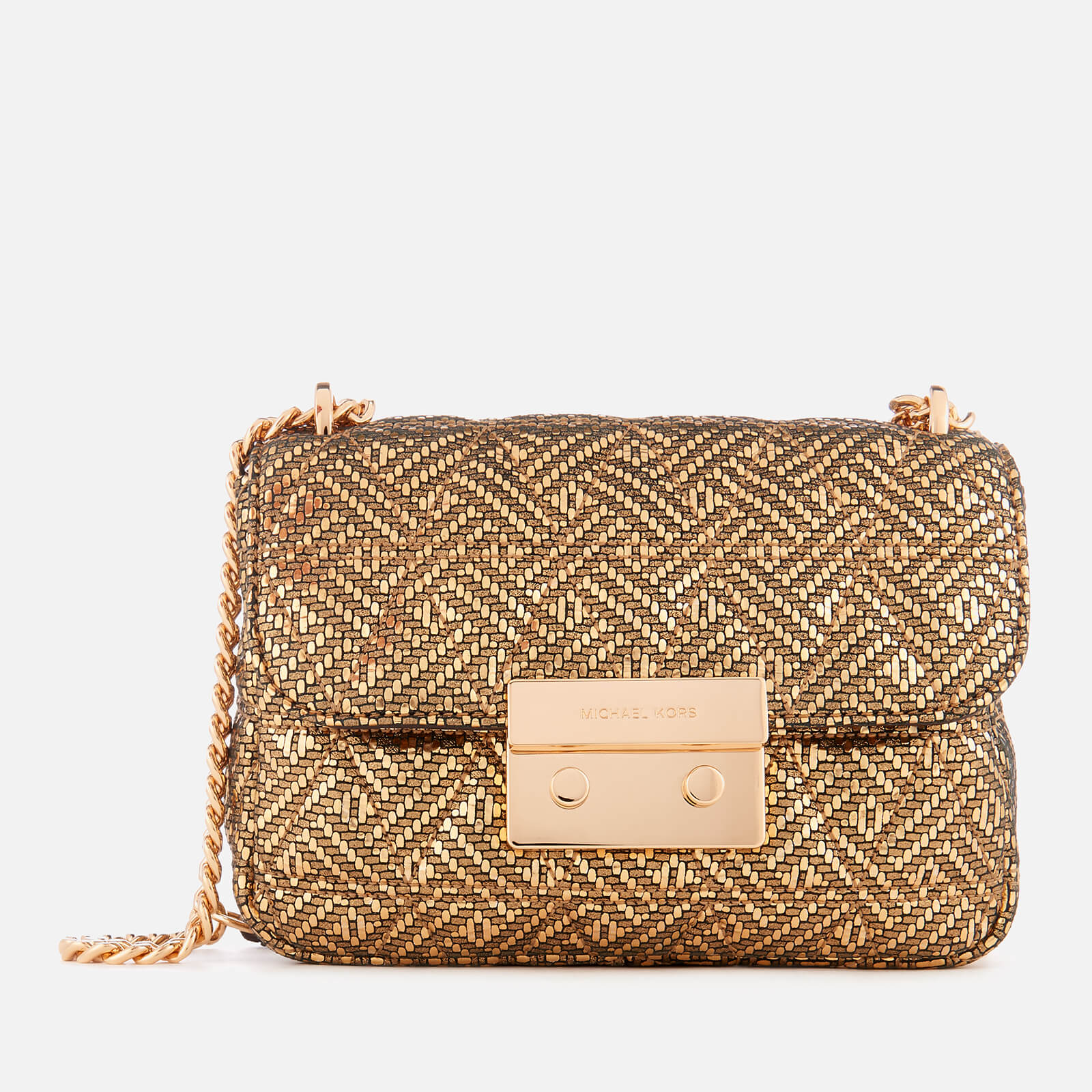 603d675365b9 MICHAEL MICHAEL KORS Women's Sloan Small Chain Shoulder Bag - Gold - Free  UK Delivery over £50