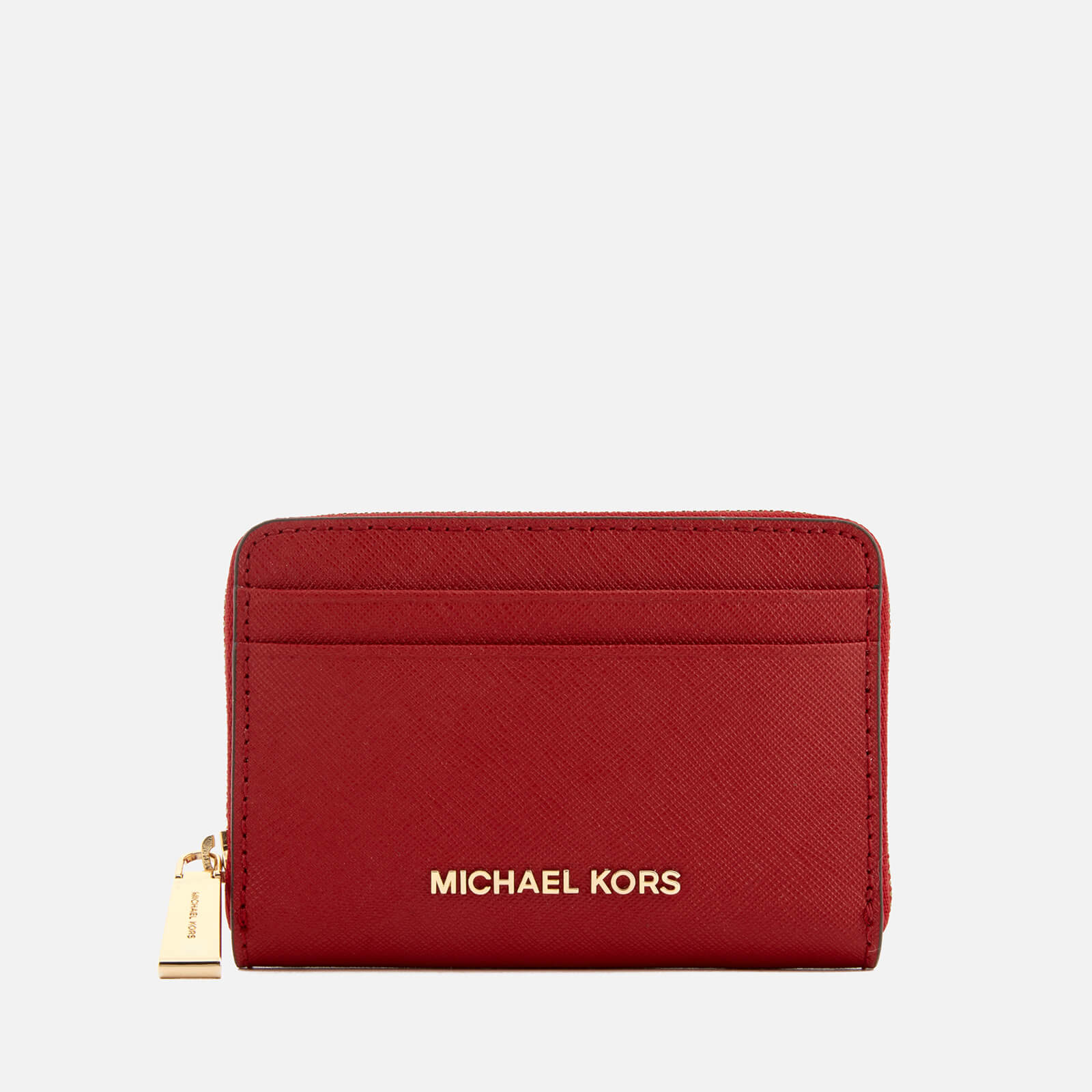 9ceab9f73d0368 MICHAEL MICHAEL KORS Women's Money Pieces Zip Around Card Case - Bright Red  - Free UK Delivery over £50