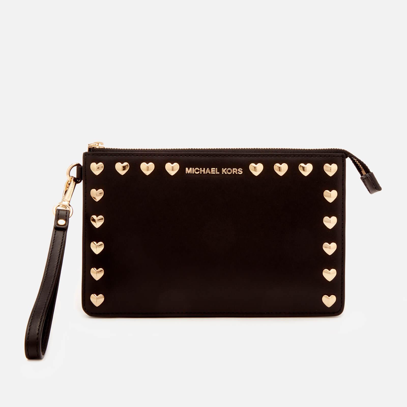 31208736dd04 MICHAEL MICHAEL KORS Women's Medium Gusset Wristlet Bag - Black - Free UK  Delivery over £50