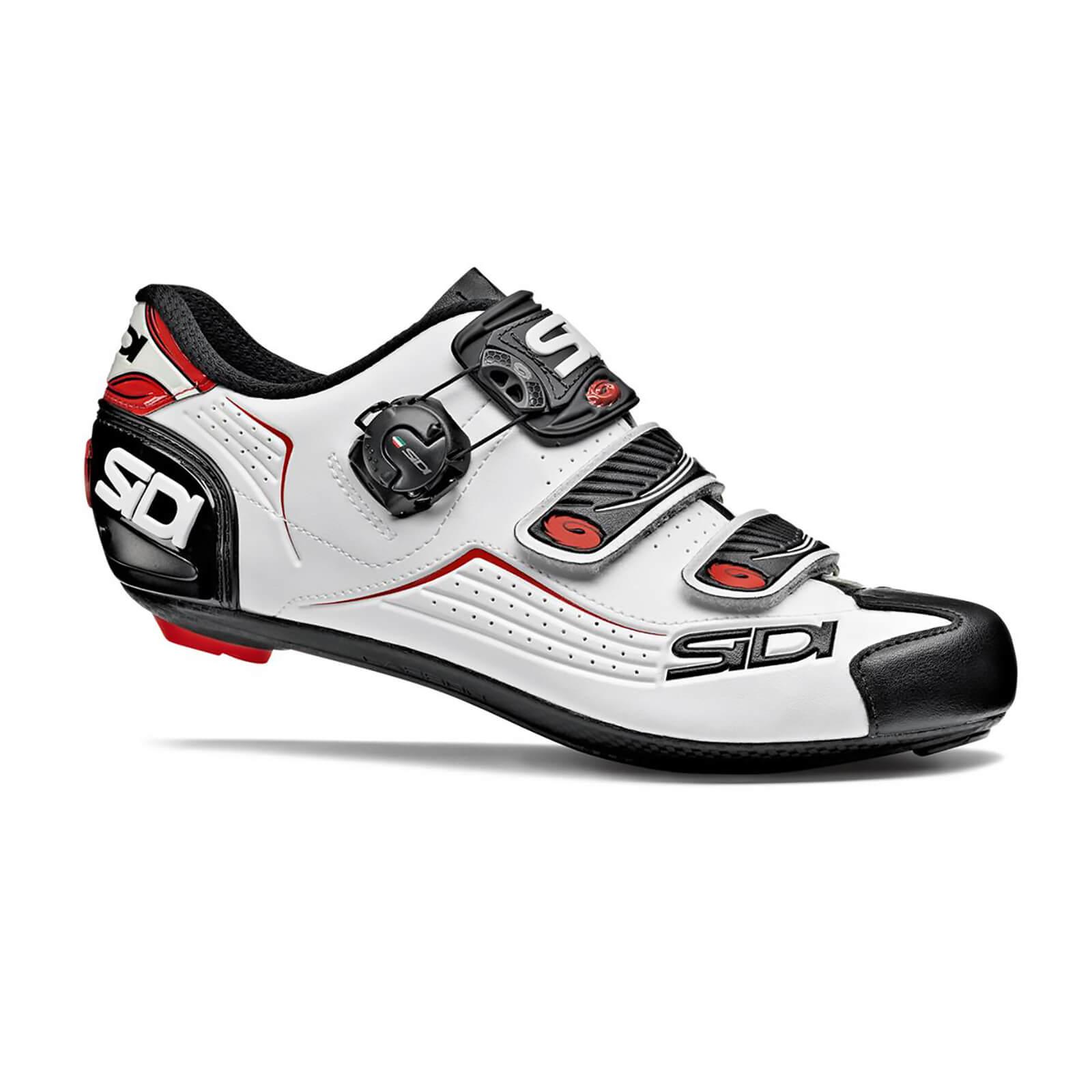 Sidi Alba Cycling Shoes White Black Red Probikekit Uk