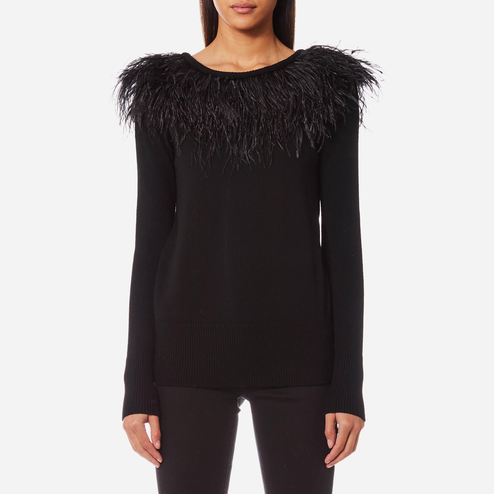 0c3ad042403 MICHAEL MICHAEL KORS Women s Feather Sweatshirt - Black - Free UK ...