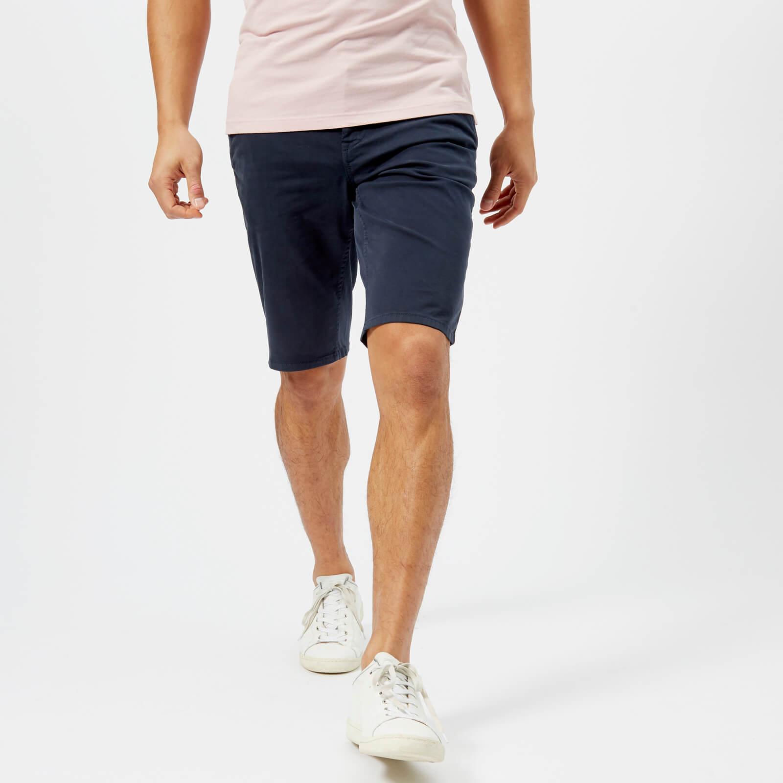 22ebd4a95 BOSS Orange Men's Schino Slim Shorts - Navy Mens Clothing | TheHut.com