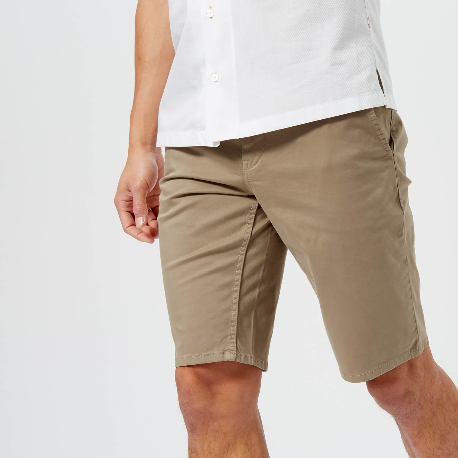 174add139 BOSS Orange Men's Schino Slim Shorts - Beige Mens Clothing   TheHut.com