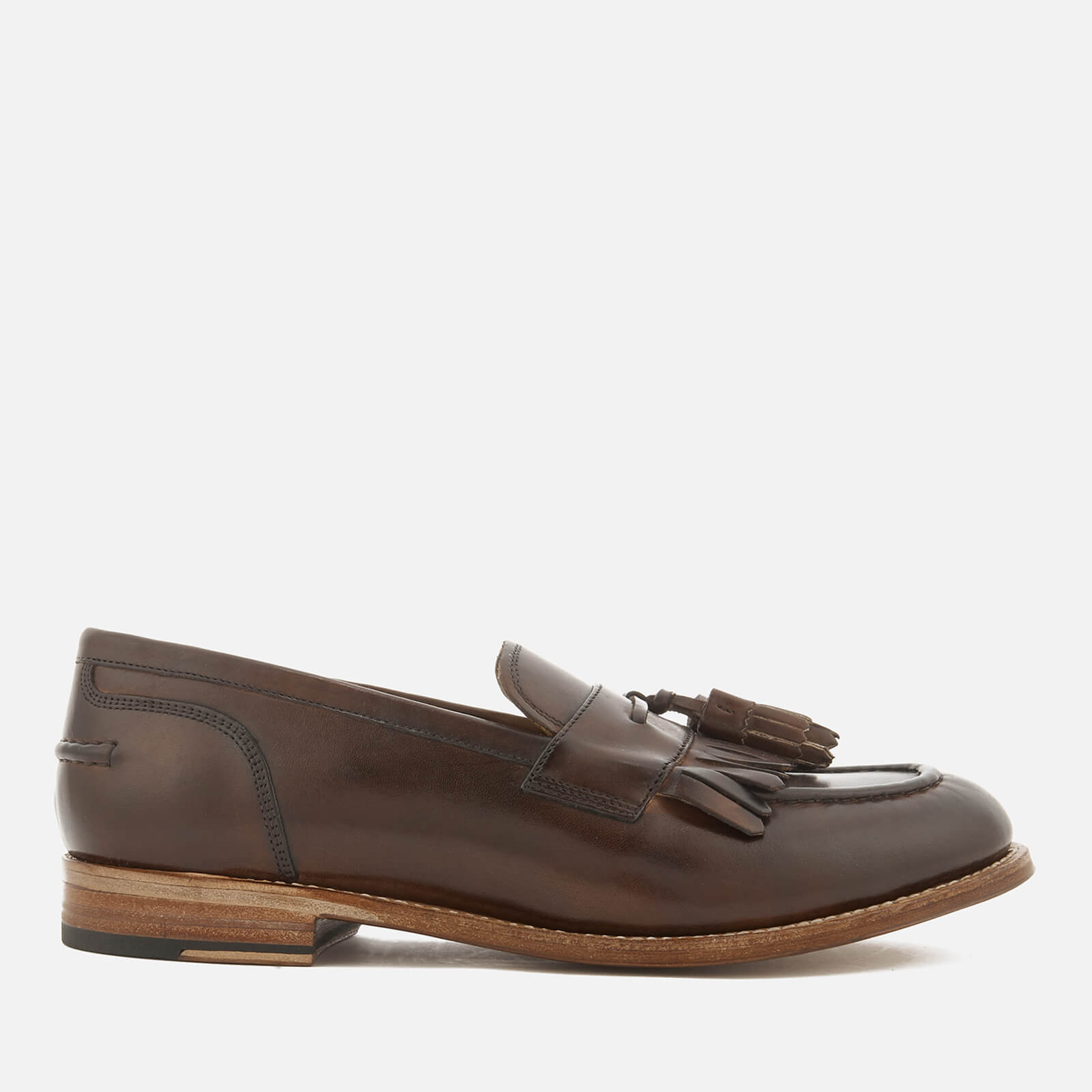 590ddb595a3 Grenson Men s Mackenzie Hand Painted Leather Tassel Loafers - Dark Brown -  Free UK Delivery over £50