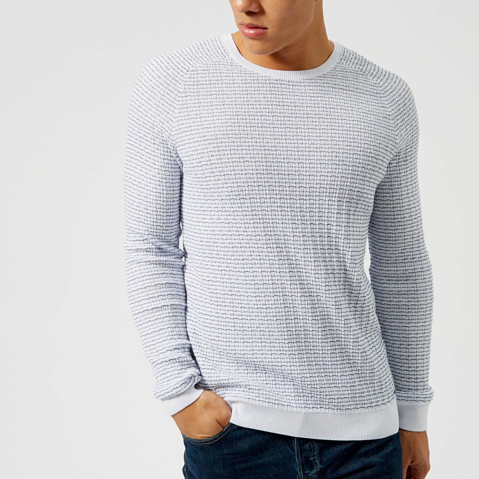 7cadeaa5792787 HUGO Men's Stanon Knit Jumper - White Mens Clothing | TheHut.com