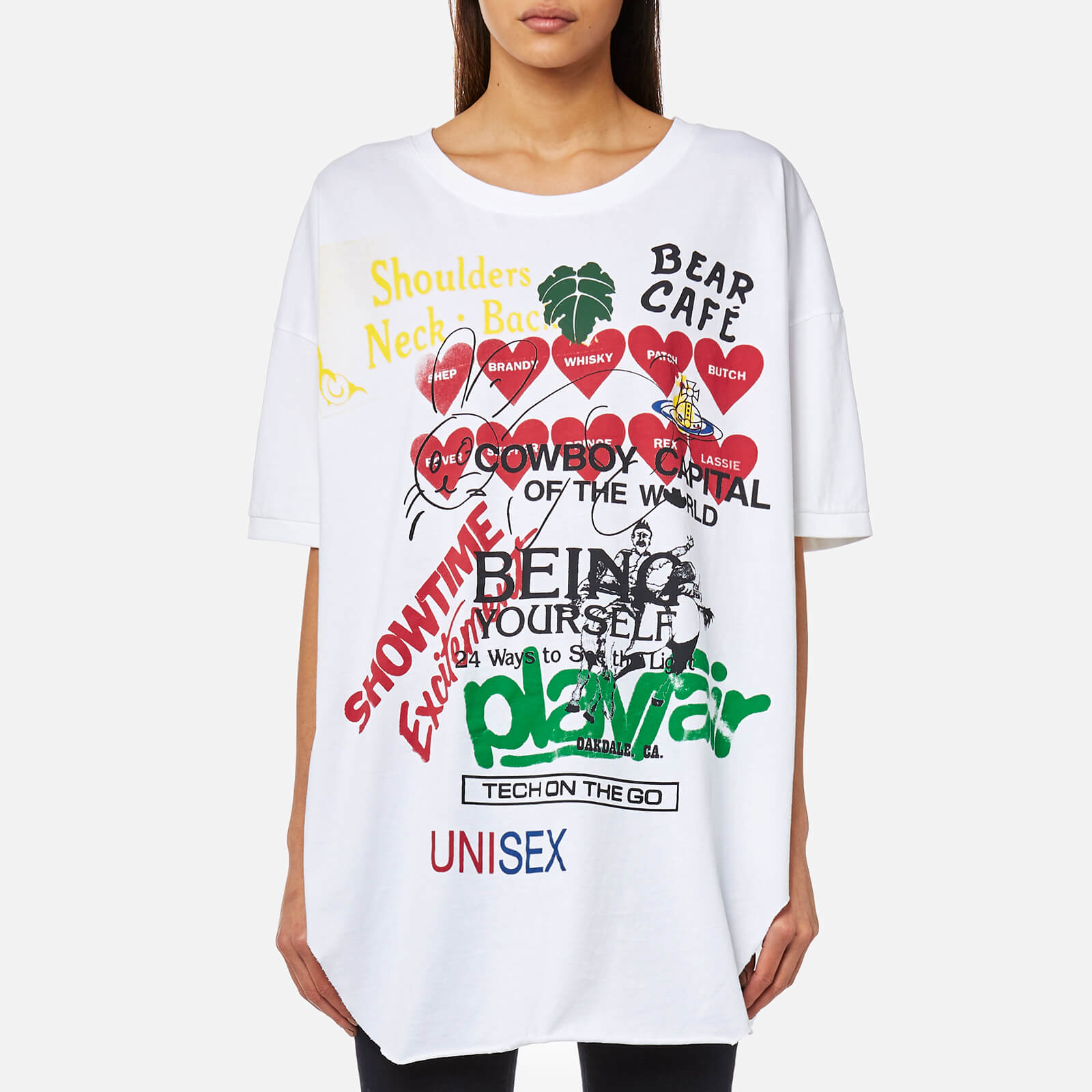 44d2f4285ad672 Vivienne Westwood Anglomania Women's Baggy T-Shirt - White - Free UK  Delivery over £50