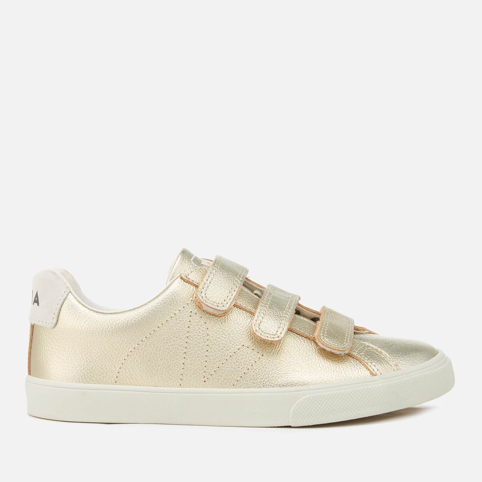 f9d5bc8fdd6145 Veja Women's 3 Lock Leather Trainers - Gold - Free UK Delivery over £50