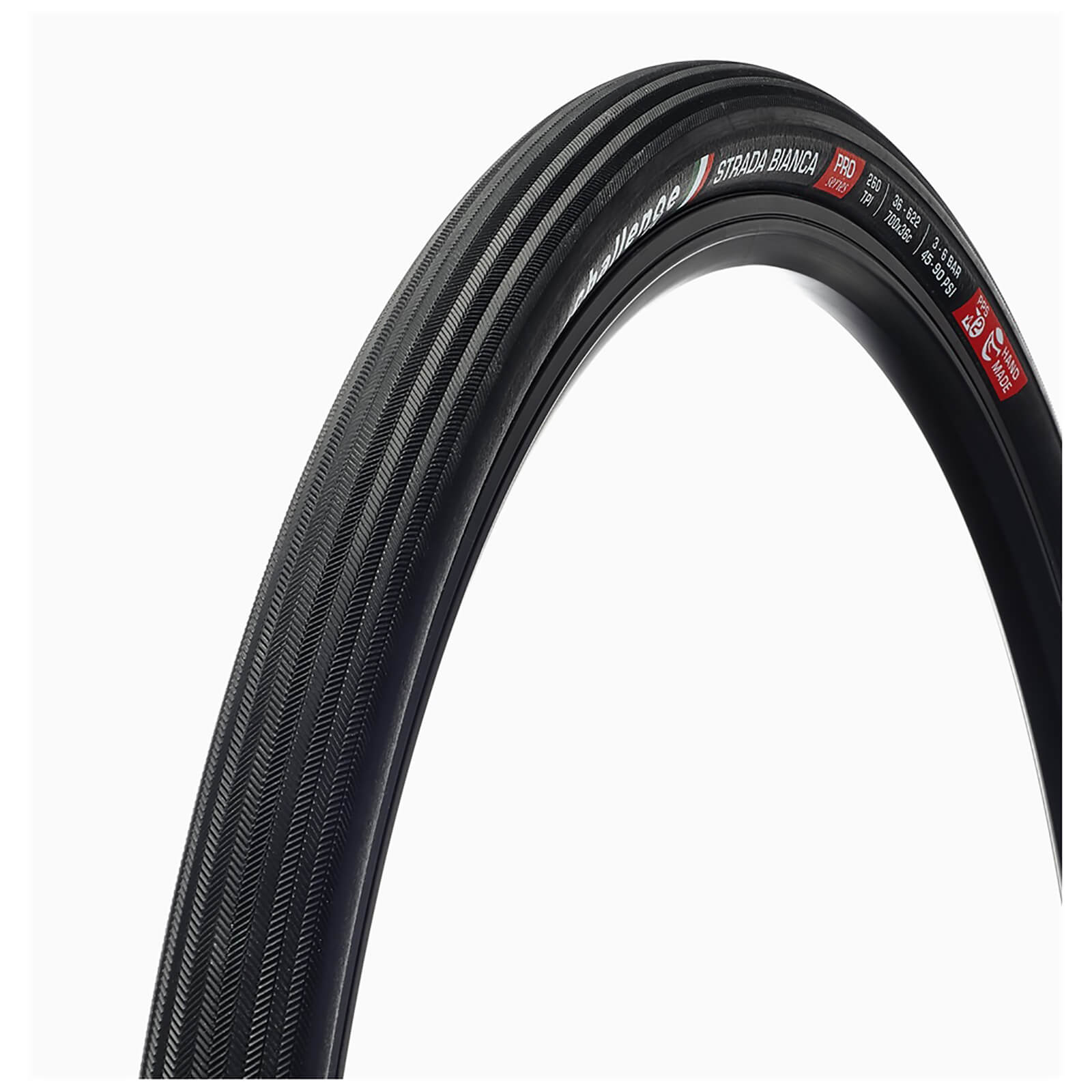 Challenge Strada Bianca 120 TPI Clincher Road Tyre - 700c x 36mm