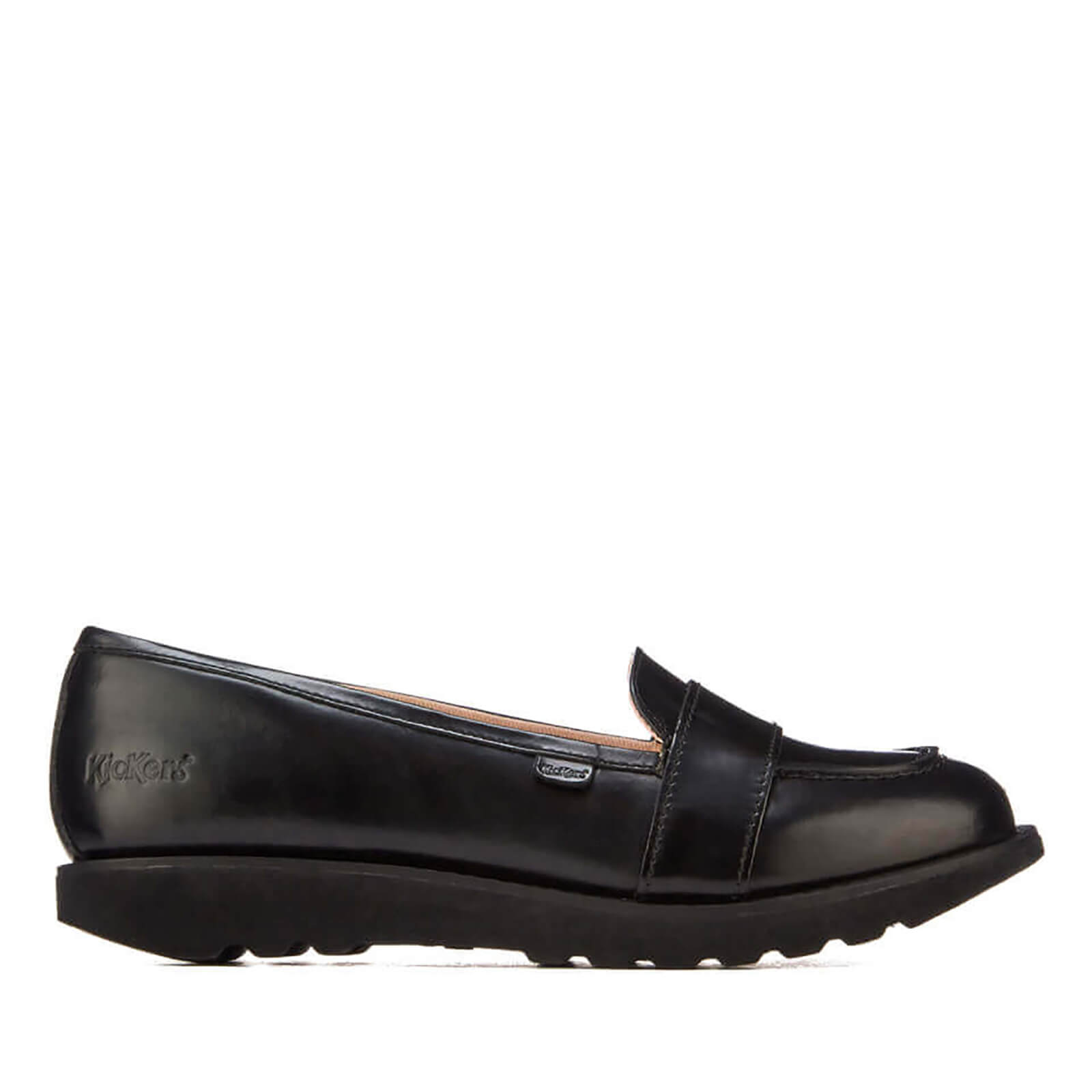 776f5d94712 Kickers Women s Kick C Lite Strap Loafers - Black Womens Footwear ...