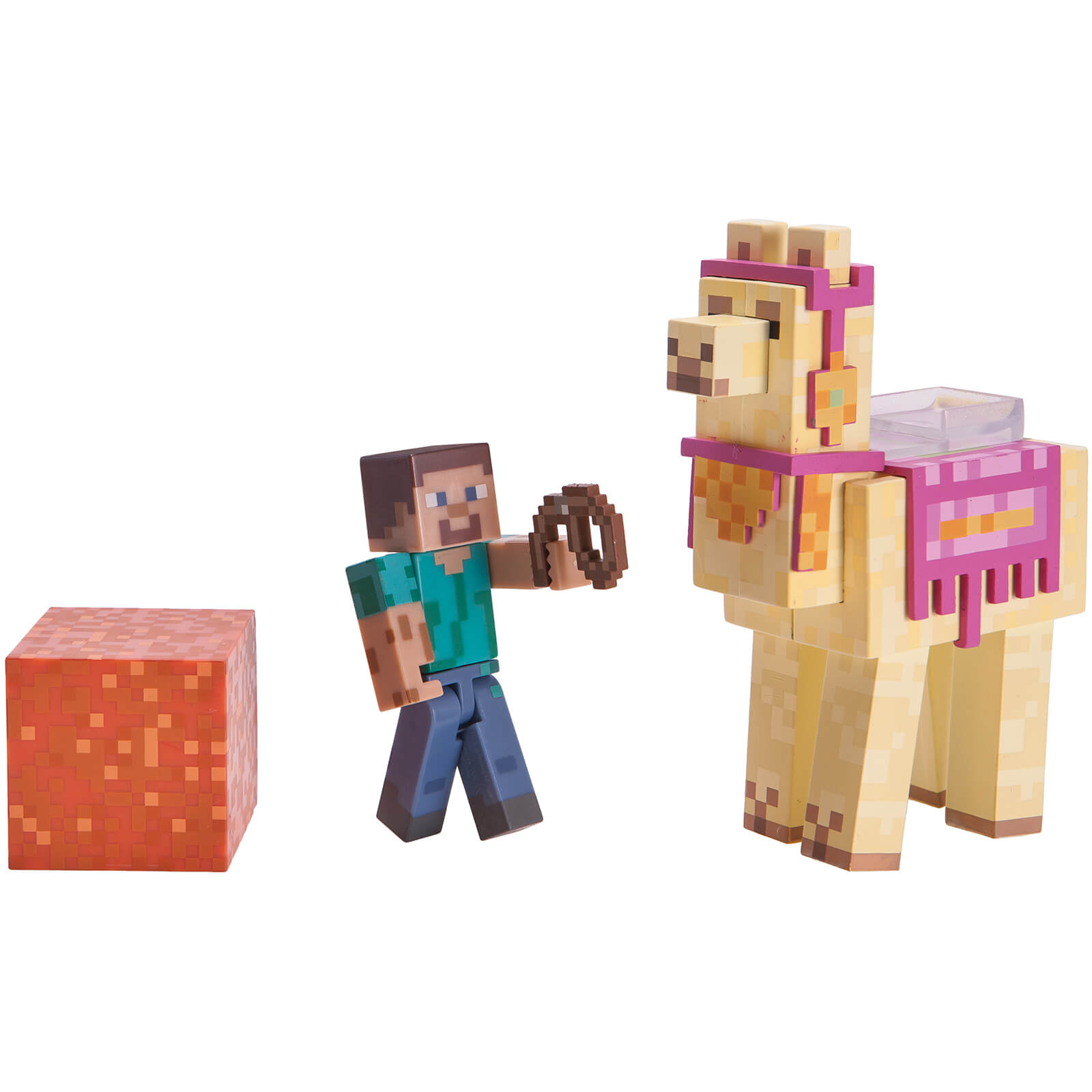 Minecraft Steve with Llama Action Figures